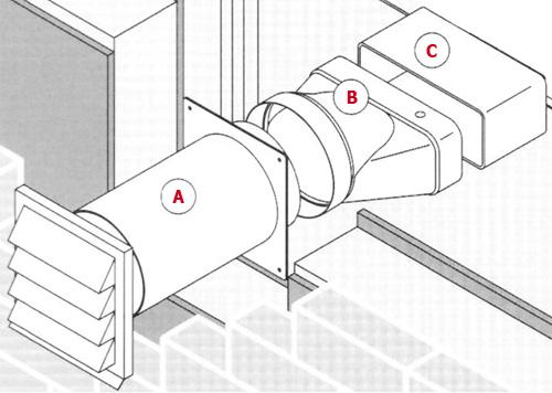 compair 402 v klima a z ab und zuluft mauerkasten 1. Black Bedroom Furniture Sets. Home Design Ideas
