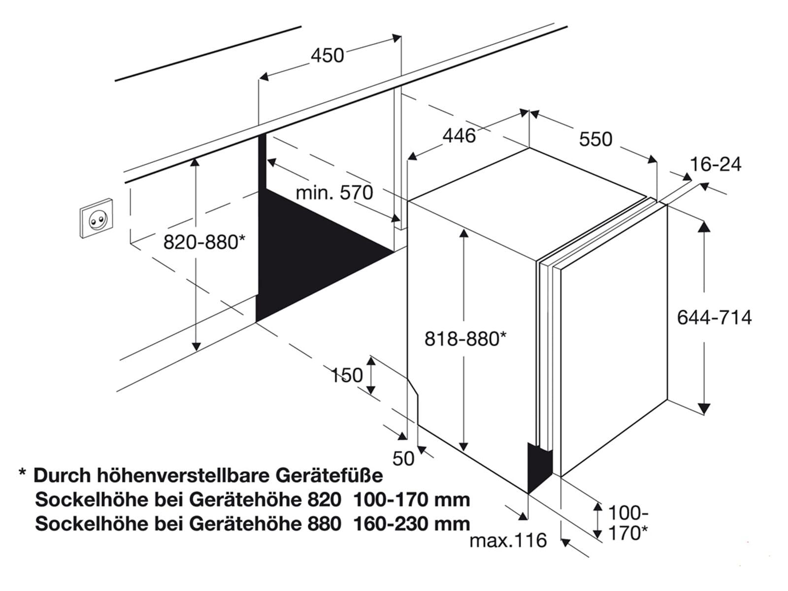 aeg f55410vi0 vollintegrierbarer einbaugeschirrsp ler sp lautomat sp ler 45cm a. Black Bedroom Furniture Sets. Home Design Ideas