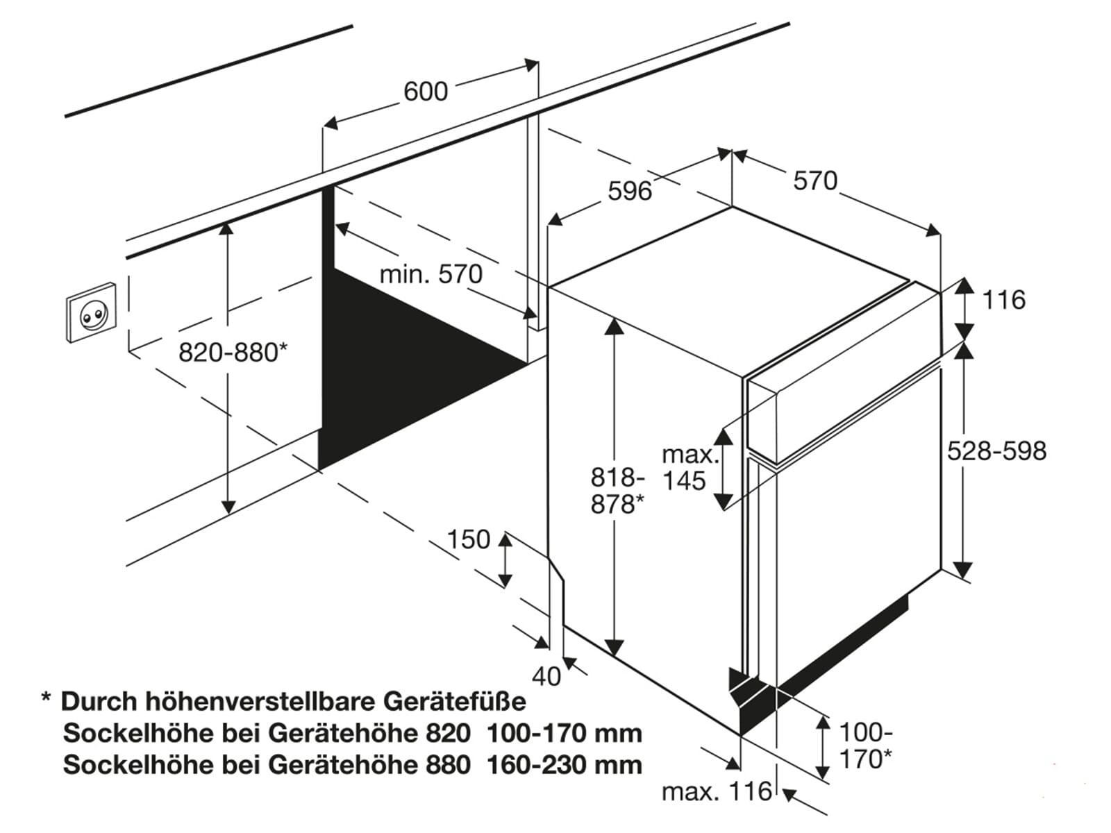 aeg f34500im0 teilintegrierbarer einbau geschirrsp ler f r 428 90 eur. Black Bedroom Furniture Sets. Home Design Ideas