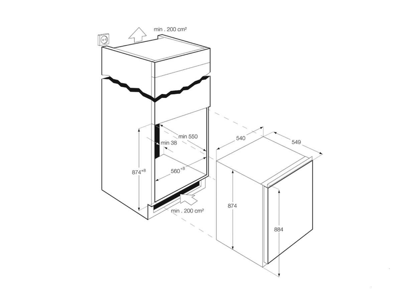 aeg ags88800f0 einbau gefrierschrank f r 668 90 eur shop. Black Bedroom Furniture Sets. Home Design Ideas