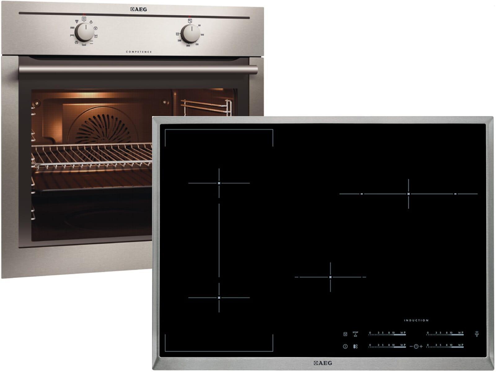 aeg backofenset be2000201m induktionskochfeld hk854420x. Black Bedroom Furniture Sets. Home Design Ideas