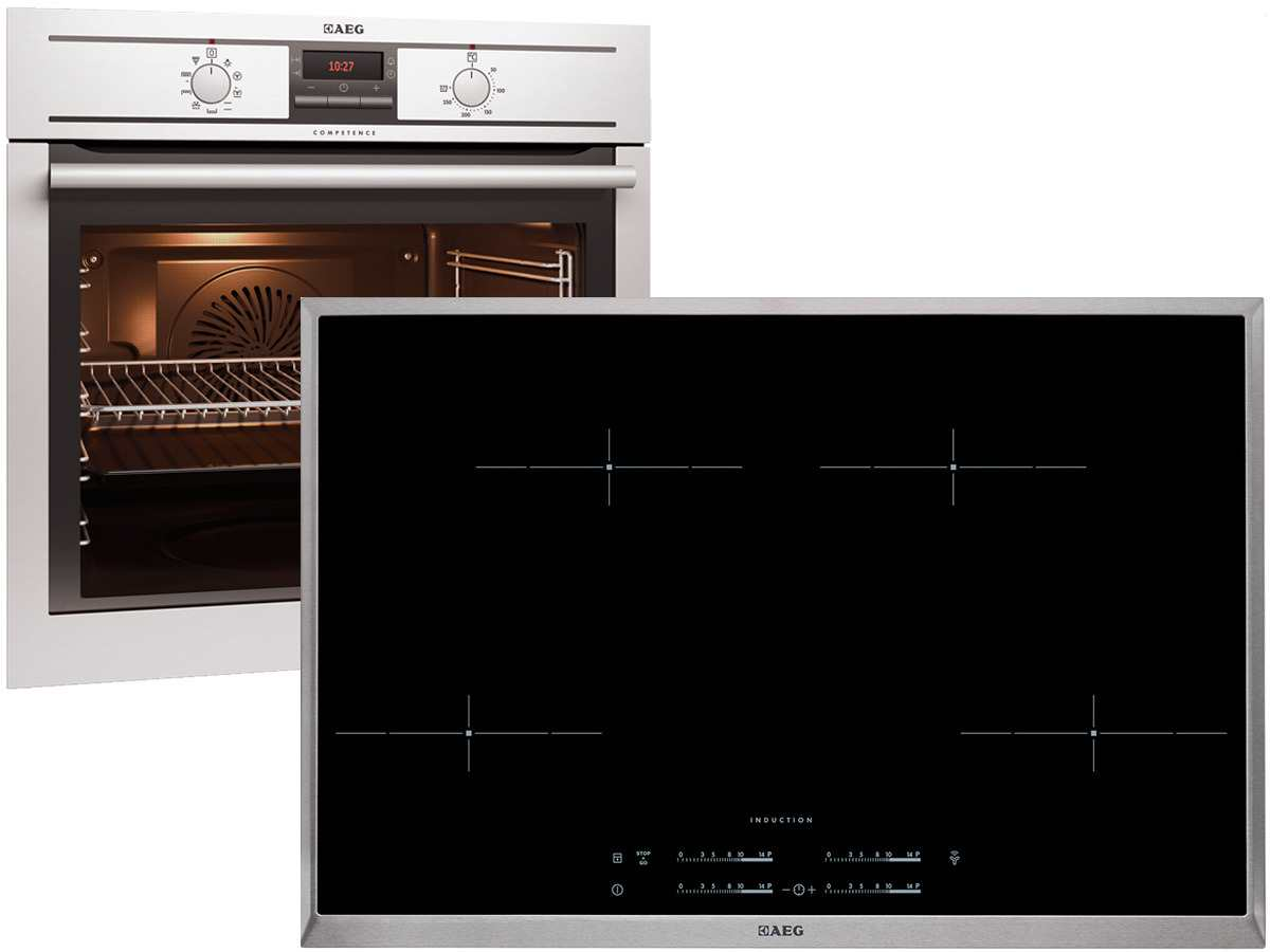 aeg be31986 backofenset be3003001m induktion kochzone hk854401x b auflage 77cm ebay. Black Bedroom Furniture Sets. Home Design Ideas