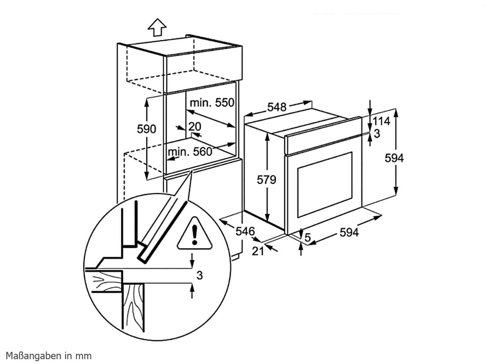 aeg be4003001m backofen edelstahl einbaubackofen. Black Bedroom Furniture Sets. Home Design Ideas
