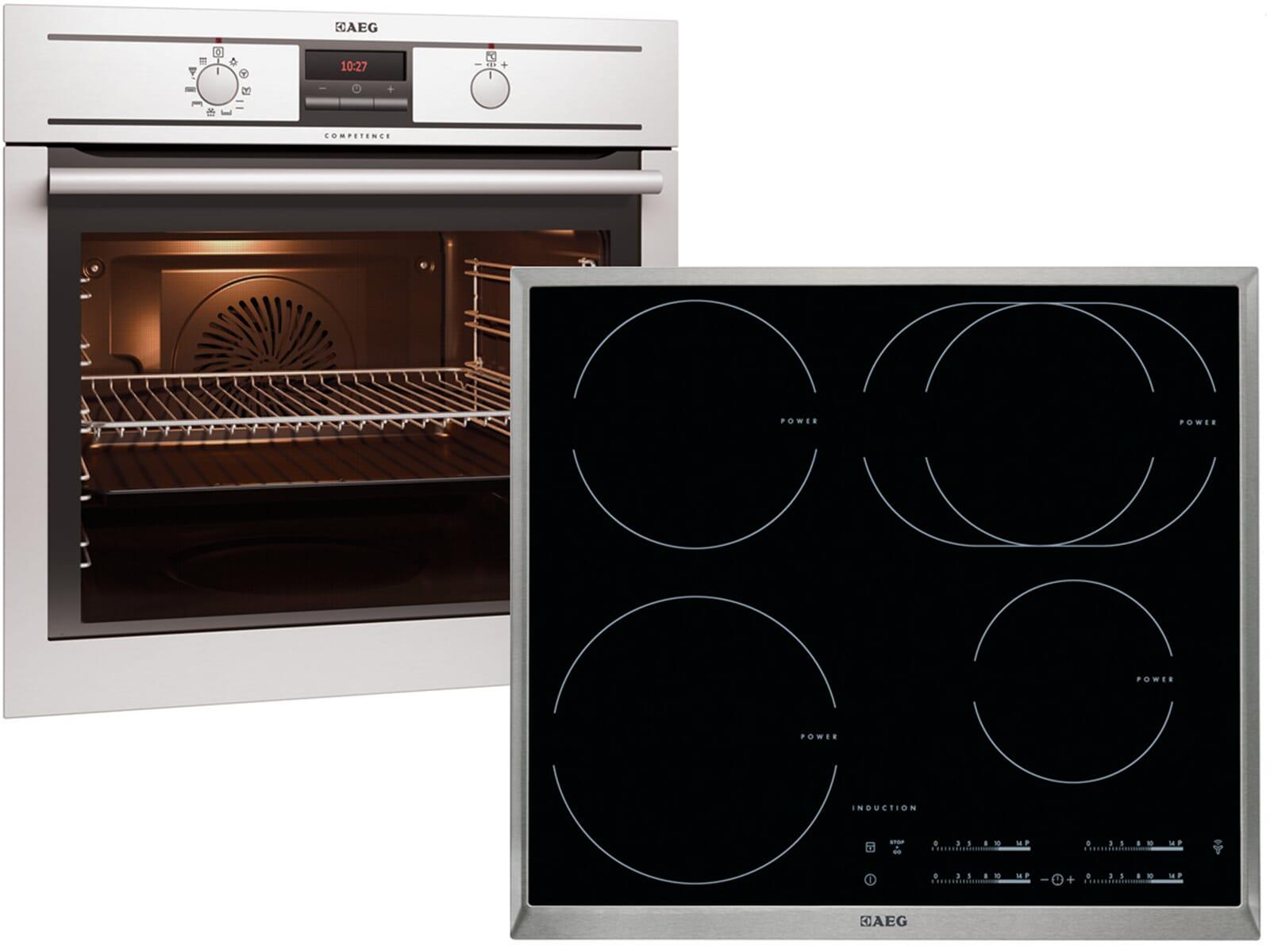 aeg bp31966 set pyrolyse backofen bp3003001m induktionskochfeld hk6542h1x b ebay. Black Bedroom Furniture Sets. Home Design Ideas