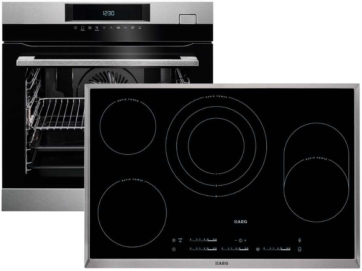 aeg bsk773 set steamcrisp backofen bsk774220m glaskeramik kochfeld hk854870xb ebay. Black Bedroom Furniture Sets. Home Design Ideas