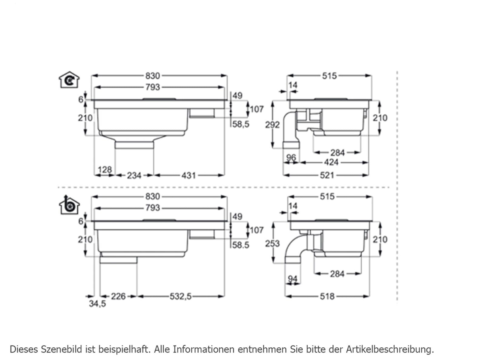aeg ide84242i b induktion kochfeld dunstabzug kombination kochfeldabzug ebay. Black Bedroom Furniture Sets. Home Design Ideas