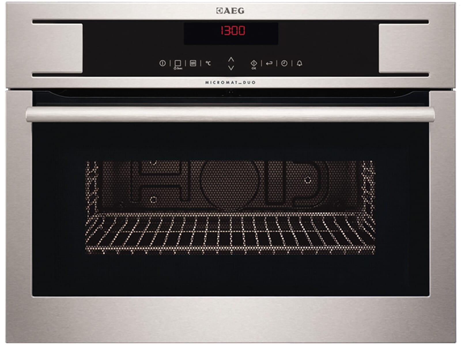 aeg kr8403101m kompakt mikrowelle mit grill edelstahl mikrowellenofen 46l einbau ebay. Black Bedroom Furniture Sets. Home Design Ideas