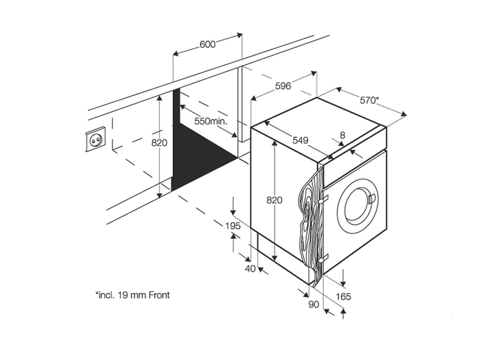 aeg l61470wdbi einbau waschtrockner kombiger t. Black Bedroom Furniture Sets. Home Design Ideas