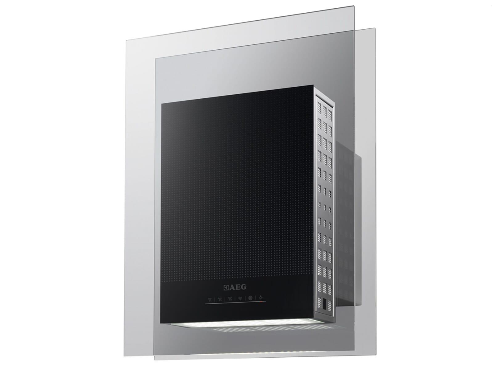 aeg x94484mv1 kopffrei wand dunstabzugshaube edelstahl glas kopfreihaube 45cm ebay. Black Bedroom Furniture Sets. Home Design Ideas