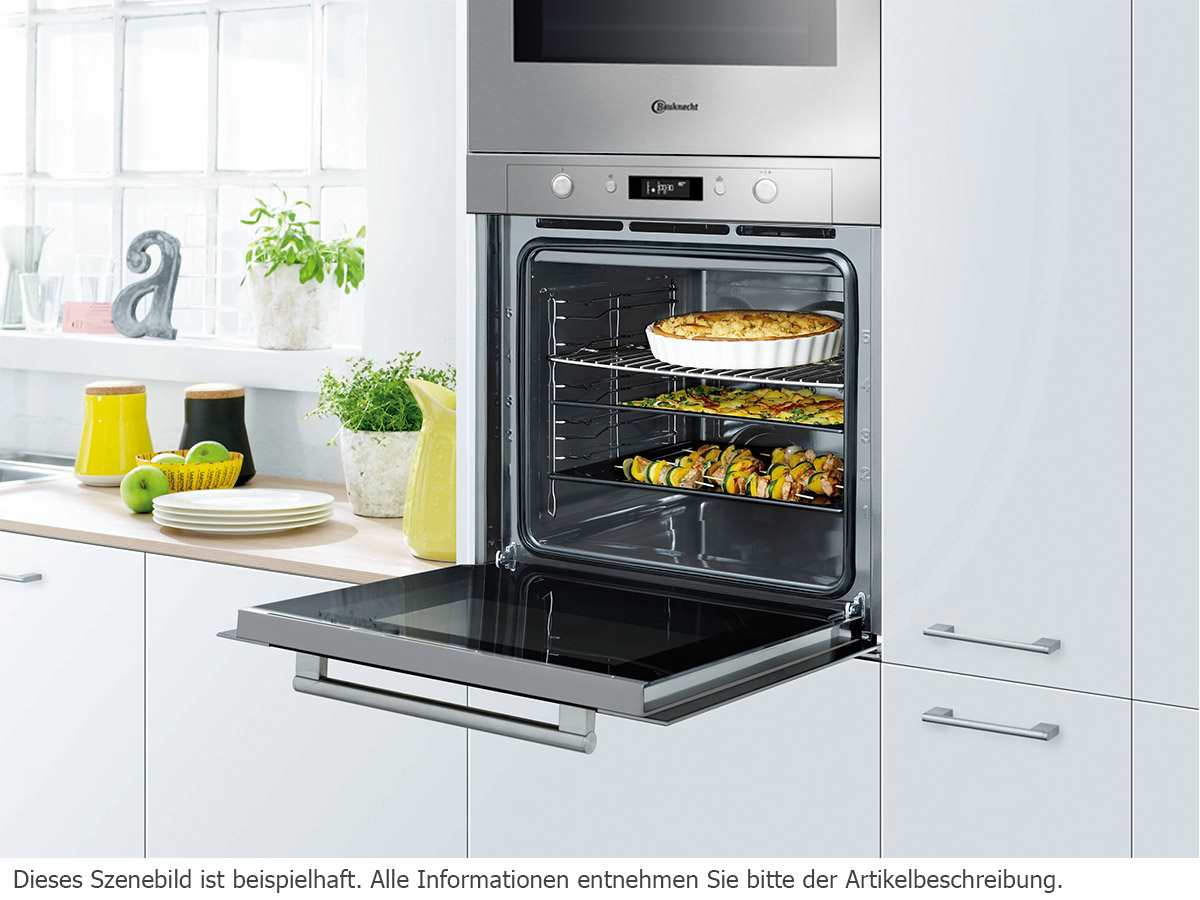 bauknecht blpe 8200 in pyrolyse backofen edelstahl multi 8 hei luftbackofen ebay. Black Bedroom Furniture Sets. Home Design Ideas