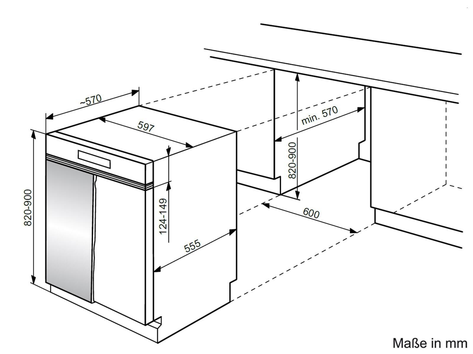 bauknecht gsis 5104a1i teilintegriert einbau geschirrsp ler sp lmaschine blende ebay. Black Bedroom Furniture Sets. Home Design Ideas