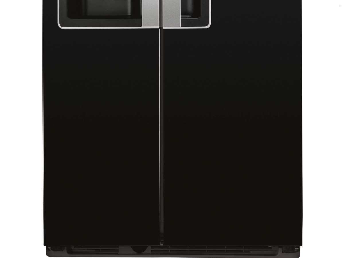 bauknecht ksn 570 a gs side by side k hl gefrier kombination schwarz ebay. Black Bedroom Furniture Sets. Home Design Ideas