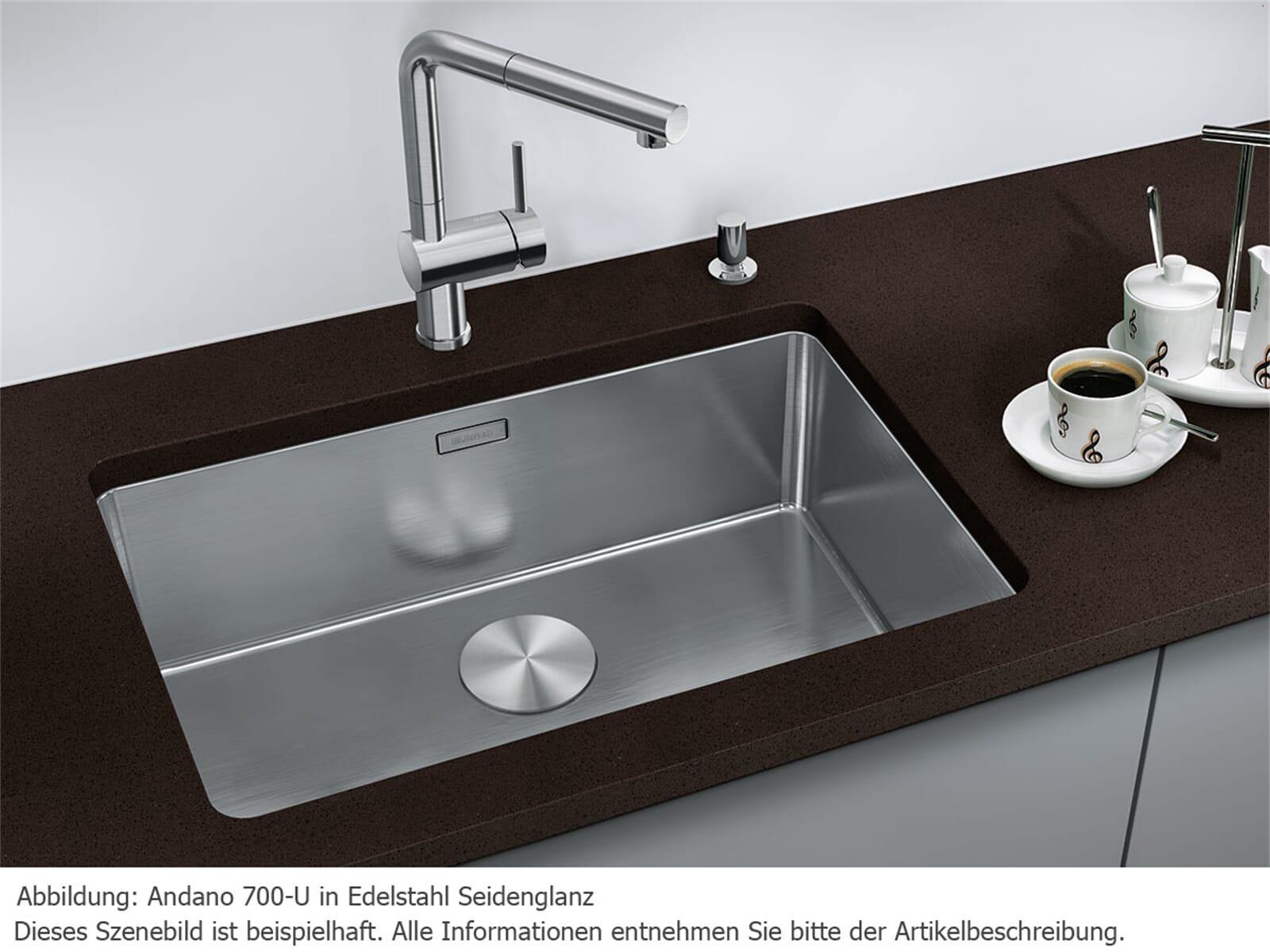 blanco andano 700 u edelstahlsp le seidenglanz ebay. Black Bedroom Furniture Sets. Home Design Ideas