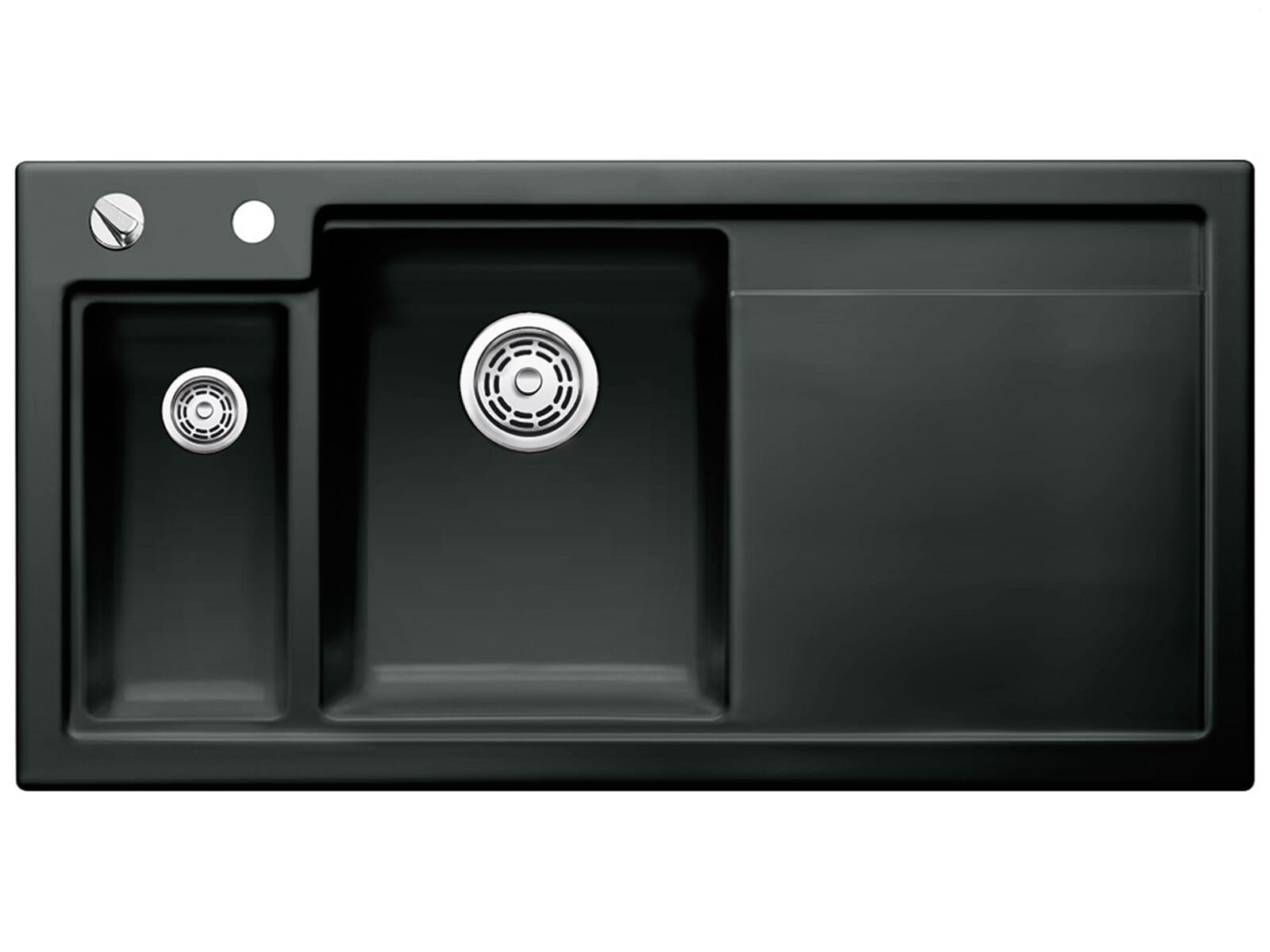 blanco axon ii 6 s schwarz einbau keramiksp le k chen sp le sp lbecken auflage ebay. Black Bedroom Furniture Sets. Home Design Ideas