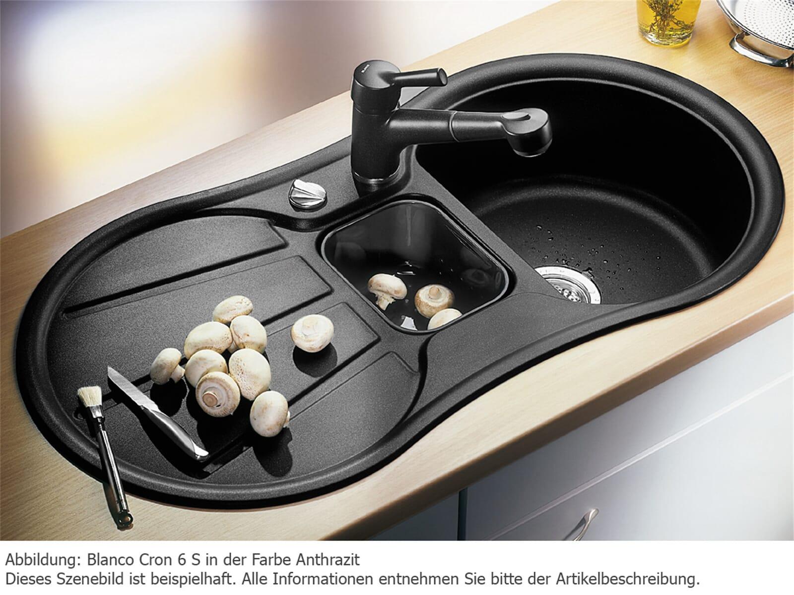 blanco cron 6 s sand granit sp le 60er us beige einbau. Black Bedroom Furniture Sets. Home Design Ideas