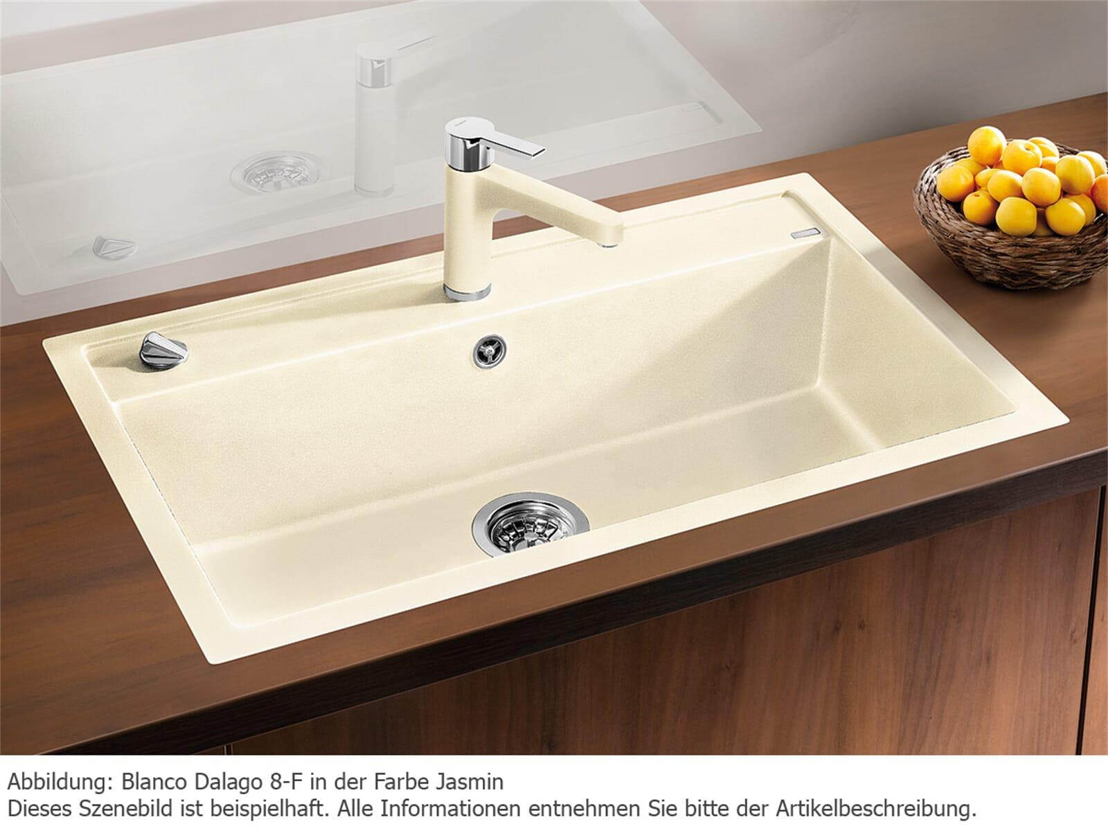 blanco dalago 8 f wei granit sp le fl chenb ndig granit k chensp le sp lbecken ebay. Black Bedroom Furniture Sets. Home Design Ideas