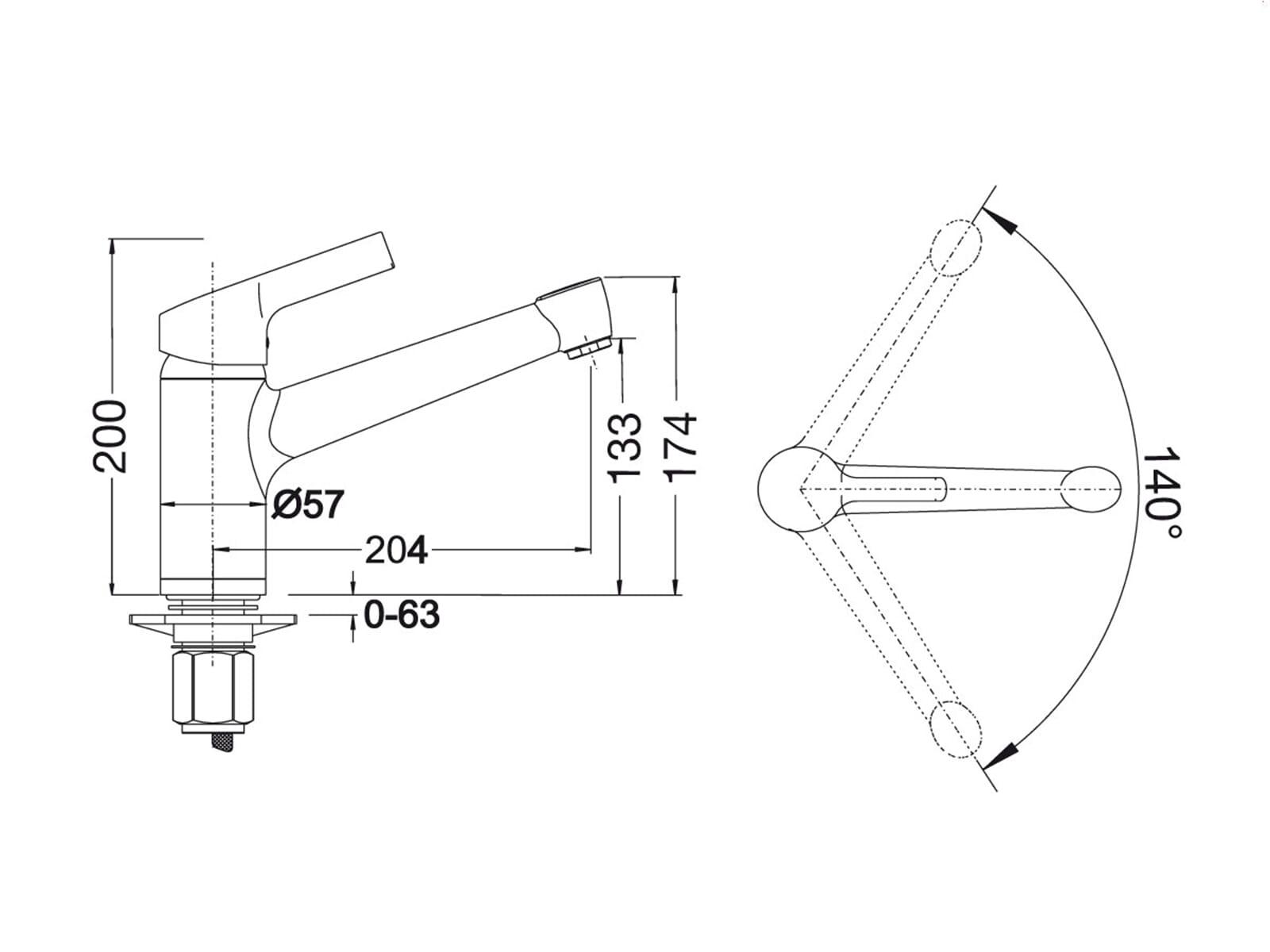 blanco elipso ii anthrazit einhand niederdruck armatur wasserhahn grau k che. Black Bedroom Furniture Sets. Home Design Ideas