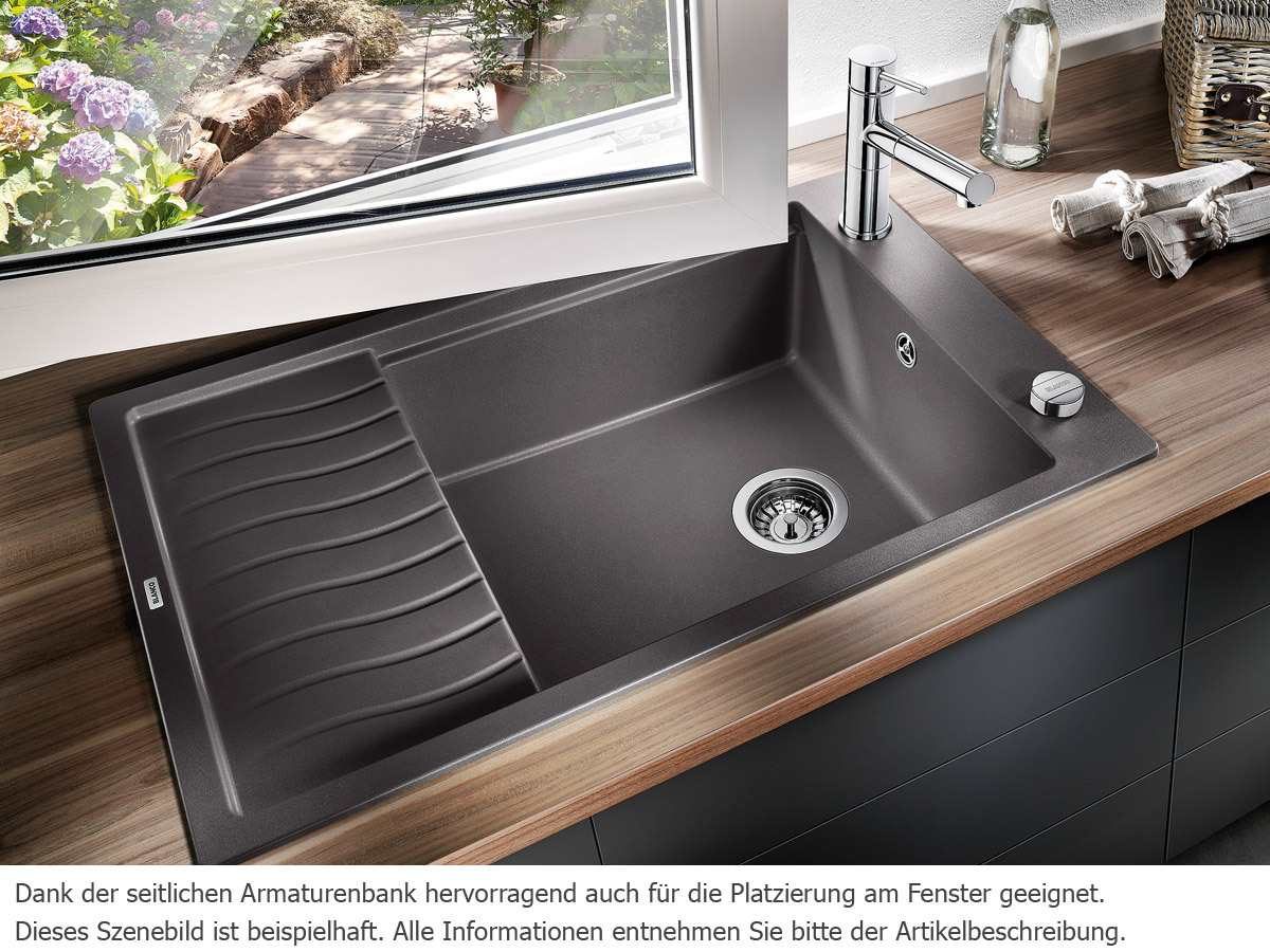 blanco elon xl 6 s tartufo granitsp le ebay. Black Bedroom Furniture Sets. Home Design Ideas