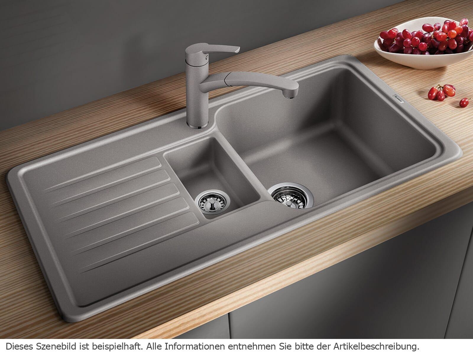 blanco favos 6 s anthrazit granitsp le ebay. Black Bedroom Furniture Sets. Home Design Ideas