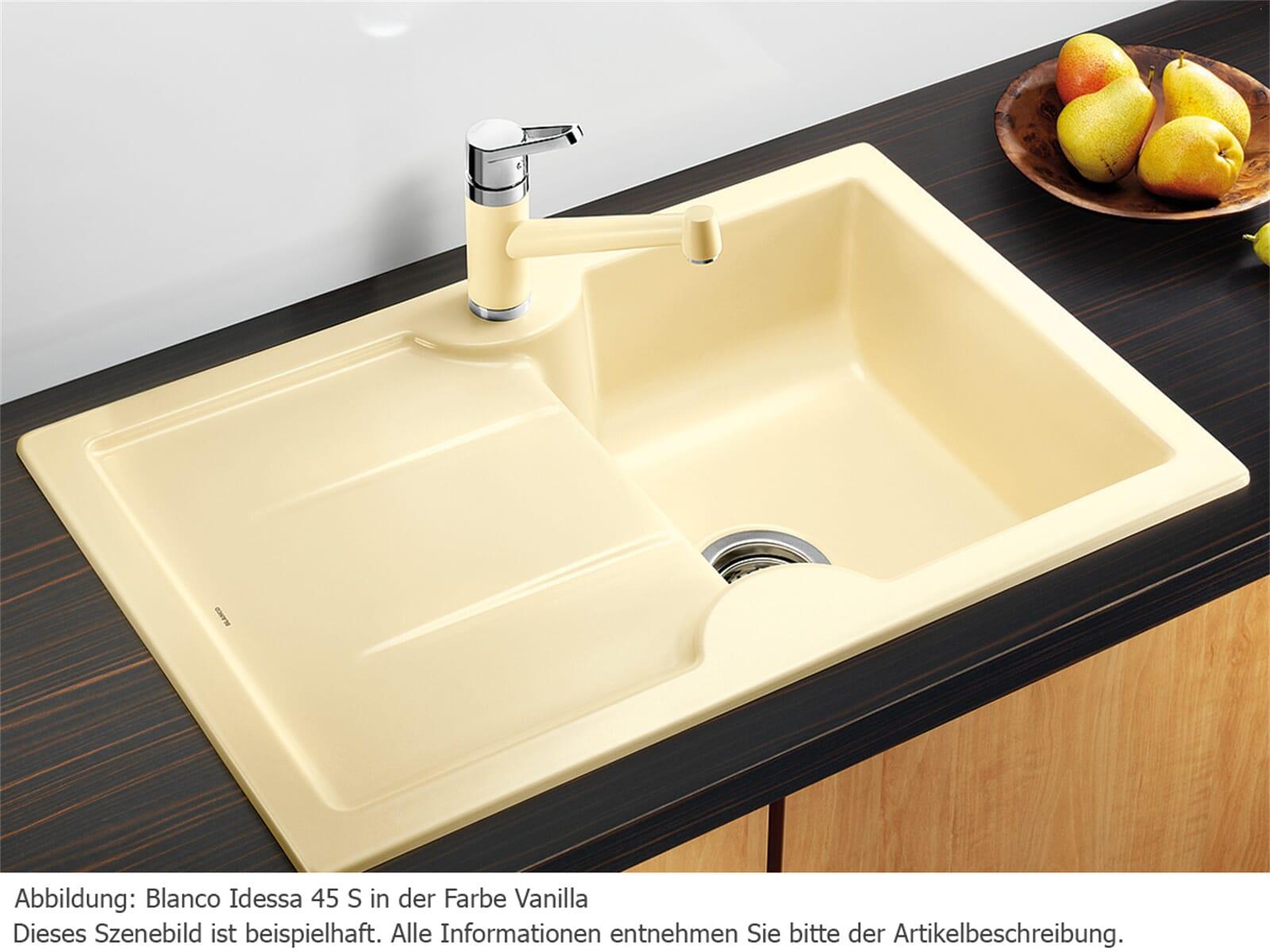blanco idessa 45 s basalt keramik sp le f r 284 90 eur. Black Bedroom Furniture Sets. Home Design Ideas