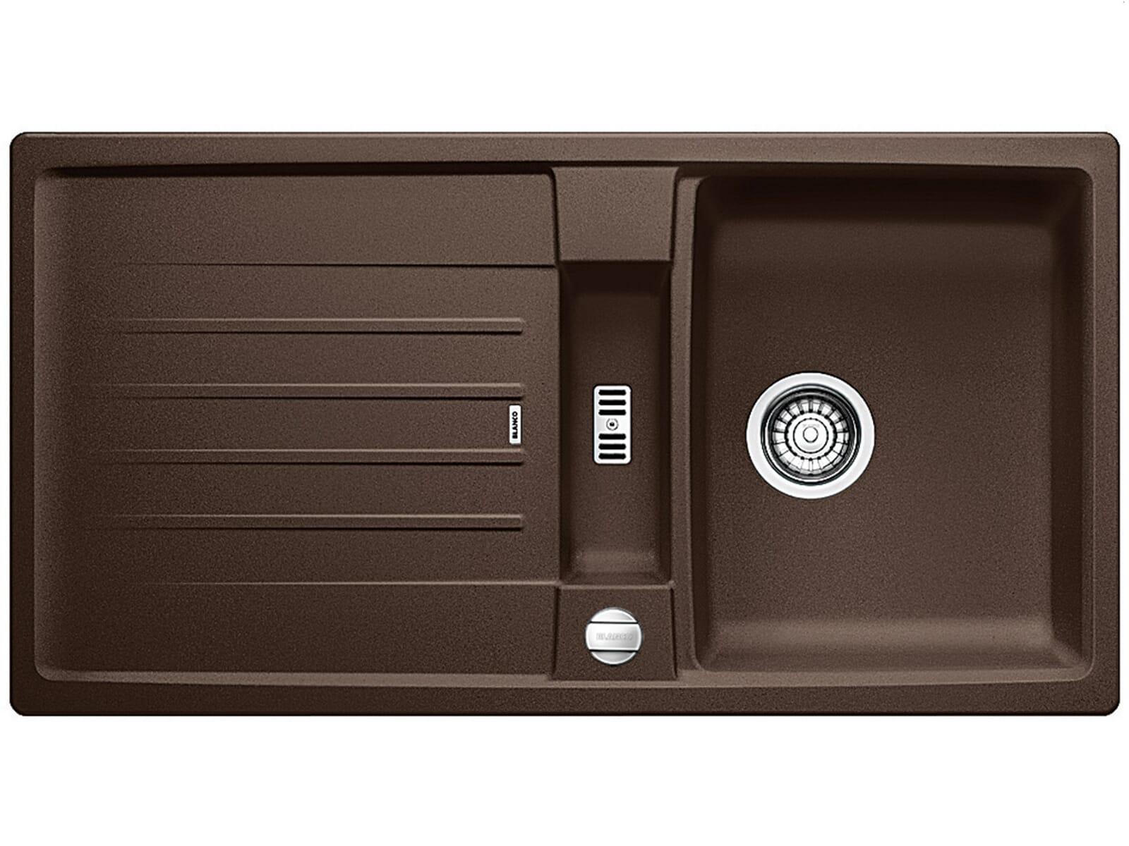 blanco lexa 5 s cafe granit sp le 50er us einbau auflage braun ebay. Black Bedroom Furniture Sets. Home Design Ideas