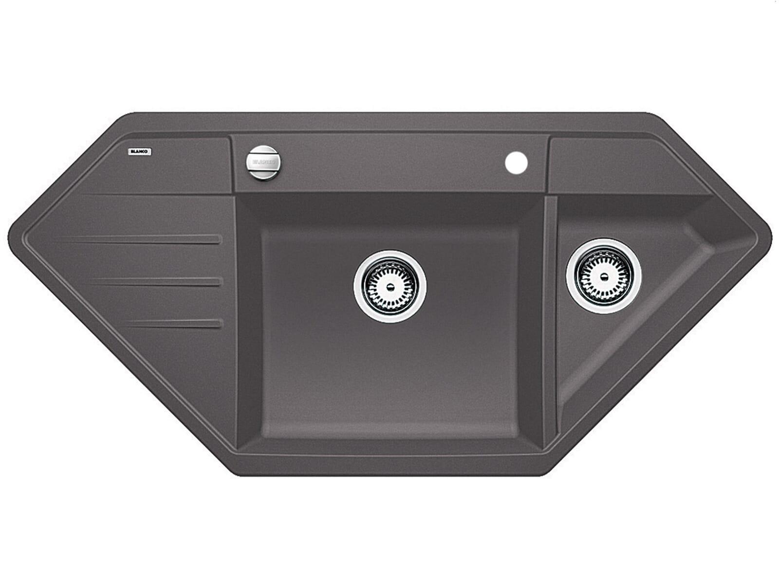 blanco lexa 9 e felsgrau granit sp le einbau auflage 90er. Black Bedroom Furniture Sets. Home Design Ideas