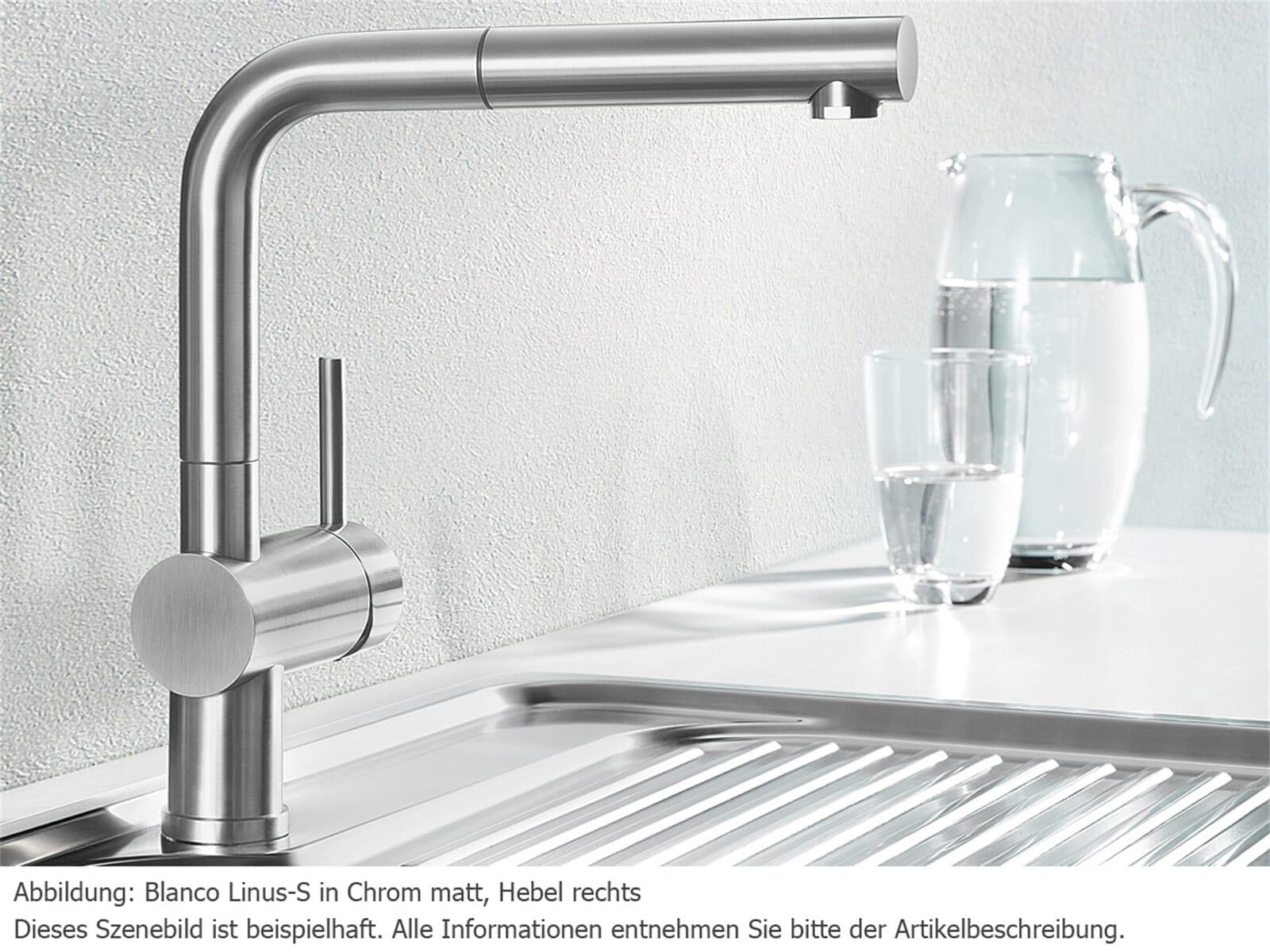 blanco linus s chrom matt niederdruck armatur f r 254 90 eur. Black Bedroom Furniture Sets. Home Design Ideas