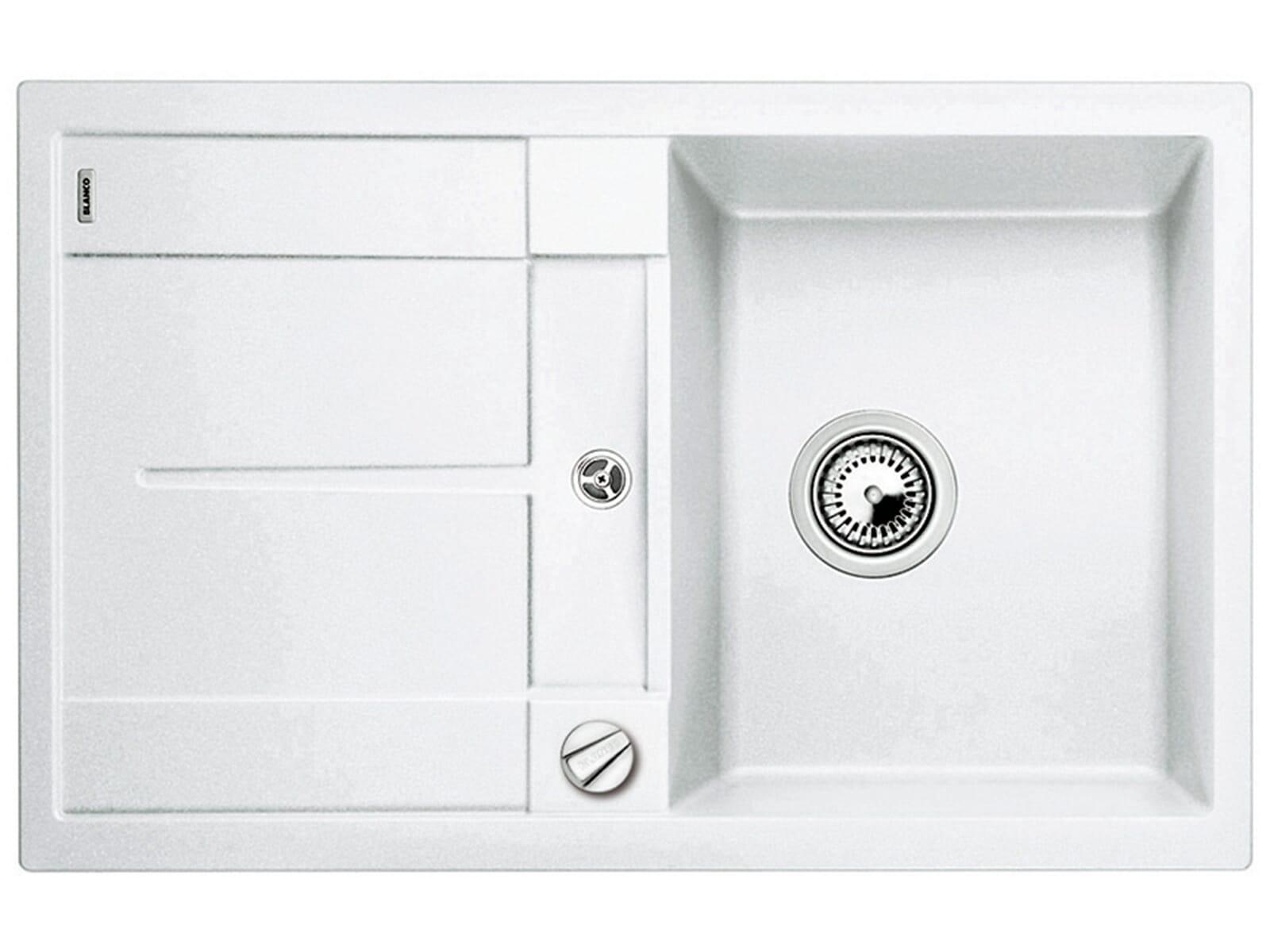 blanco metra 45 s wei granit sp le einbau auflage 45er us ebay. Black Bedroom Furniture Sets. Home Design Ideas