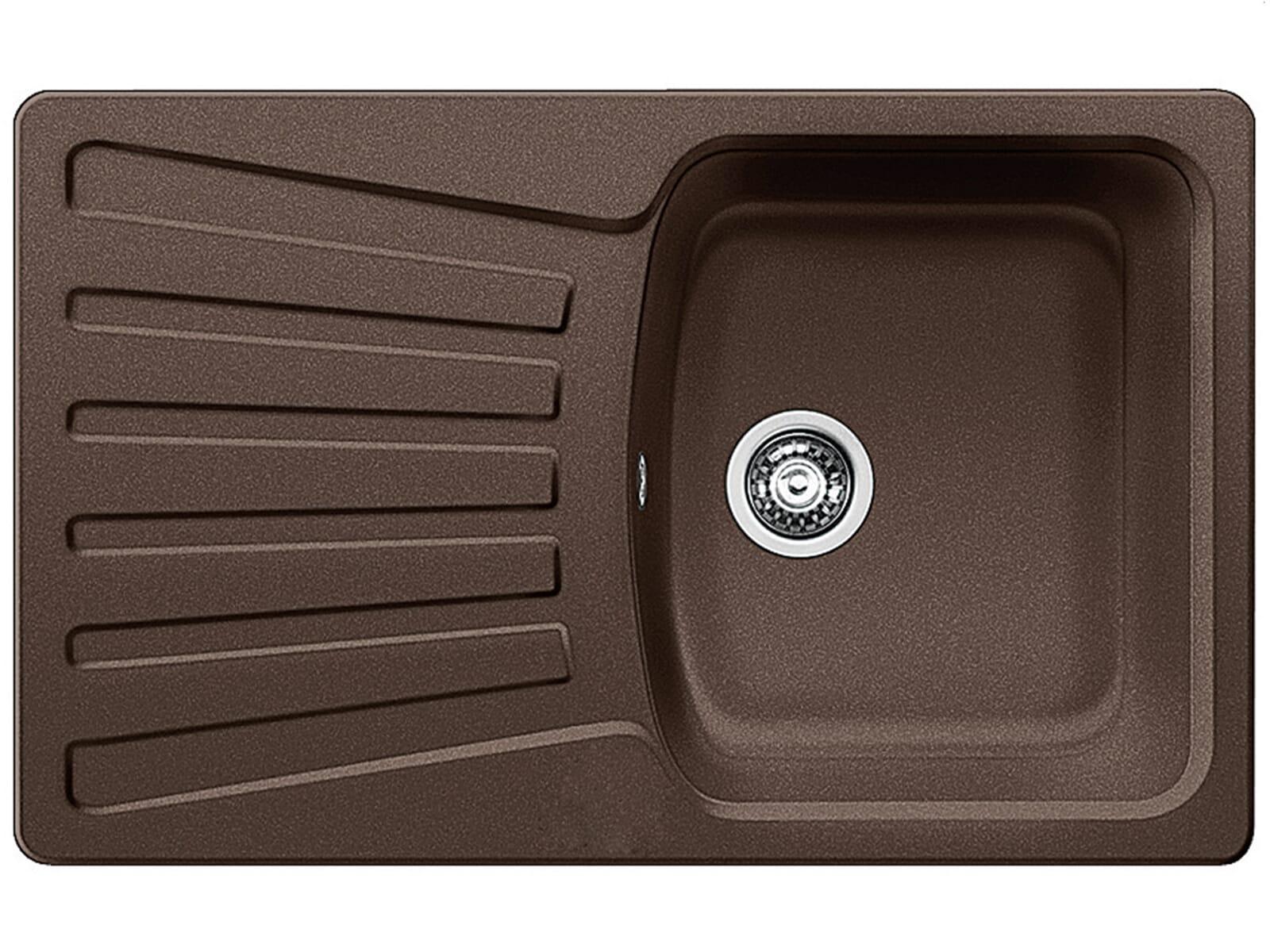blanco nova 45 s cafe granit sp le braun einbau manuelle. Black Bedroom Furniture Sets. Home Design Ideas