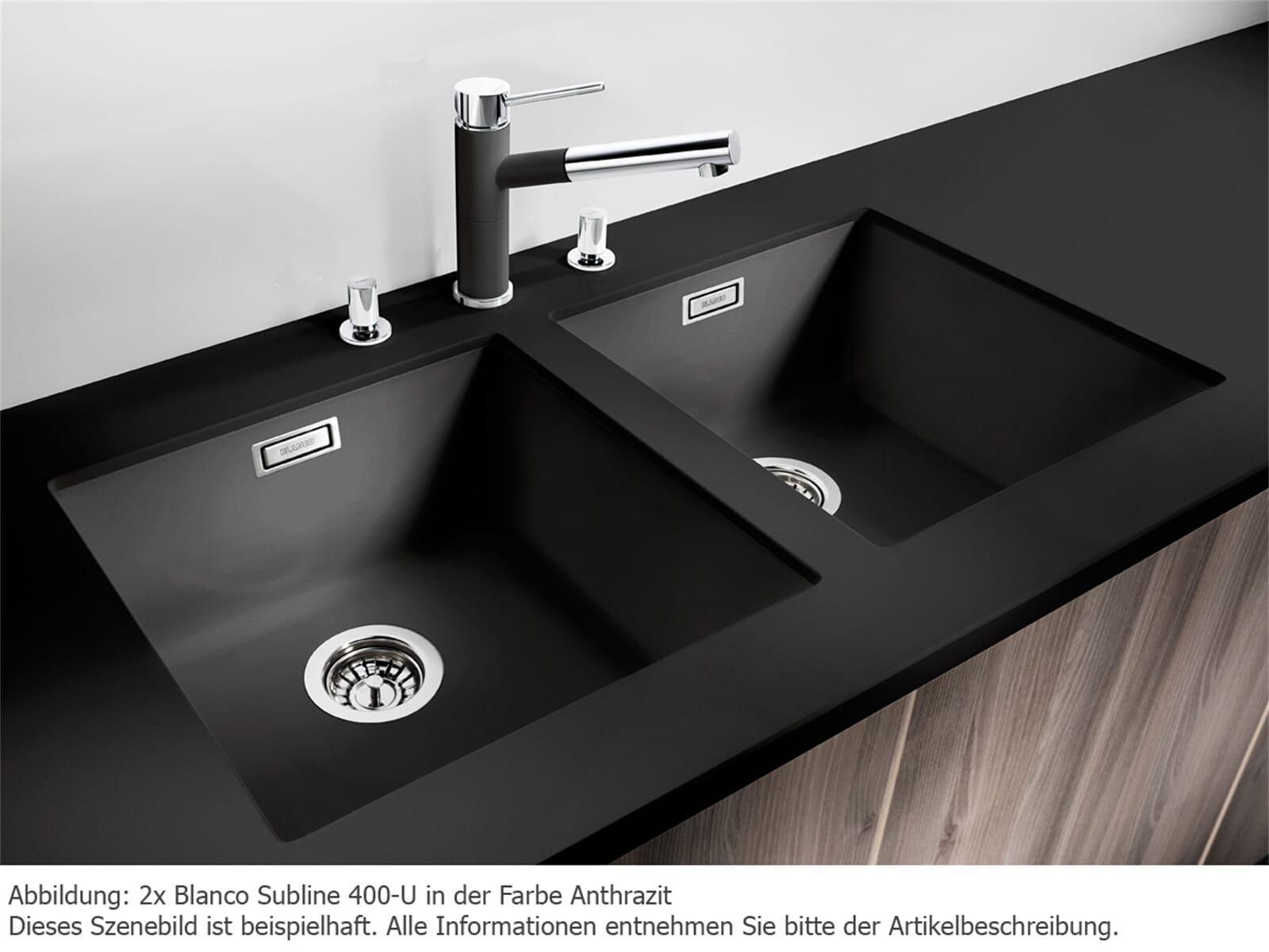 blanco subline 400 u anthrazit granit sp le 50er us. Black Bedroom Furniture Sets. Home Design Ideas