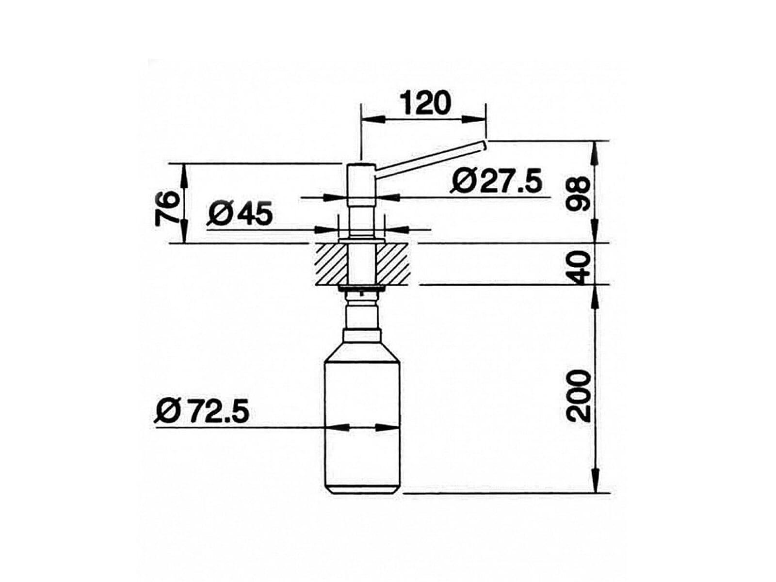 einbau sp lmittelspender edelstahl abdeckung ablauf dusche. Black Bedroom Furniture Sets. Home Design Ideas