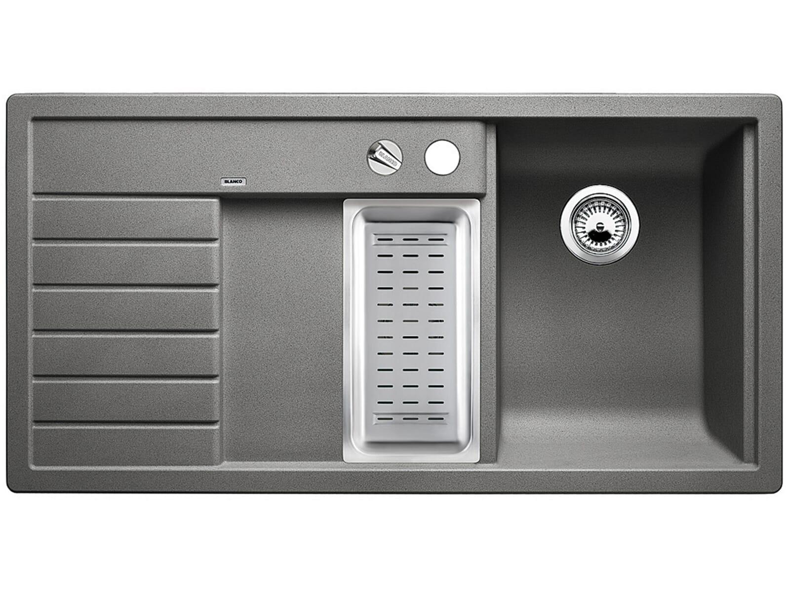 blanco trisona 6 s alumetallic silgranit sp le grau sp ltisch k chensp le einbau ebay. Black Bedroom Furniture Sets. Home Design Ideas