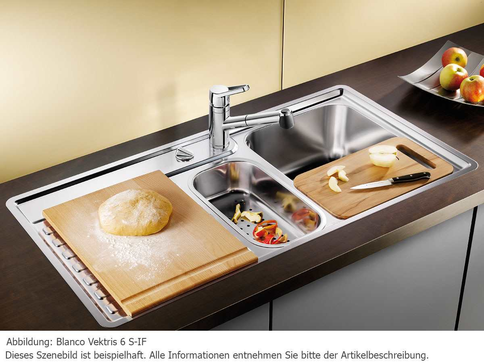 blanco vektris 6 s if edelstahlsp le seidenglanz m hlau bei chemnitz. Black Bedroom Furniture Sets. Home Design Ideas