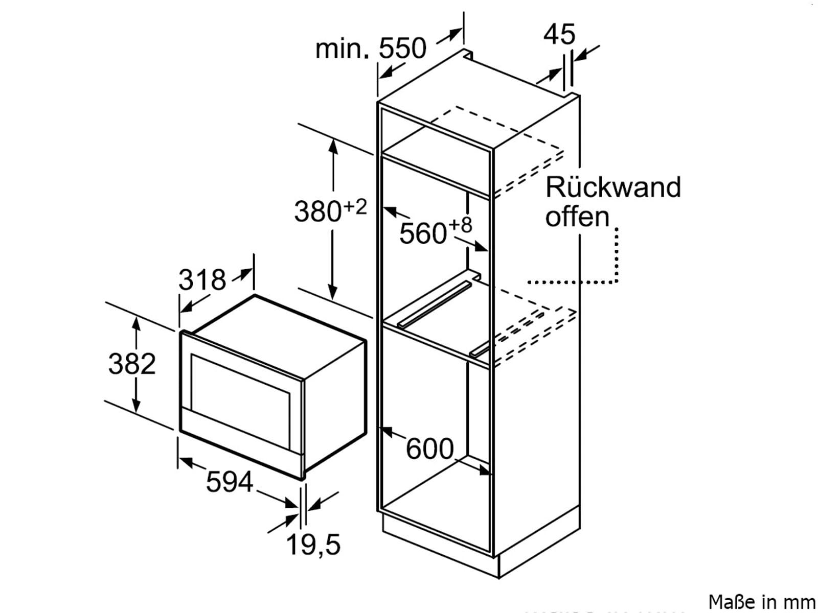 bosch bfl634gw1 einbau mikrowelle wei microwellen herd einbauger t ebay. Black Bedroom Furniture Sets. Home Design Ideas