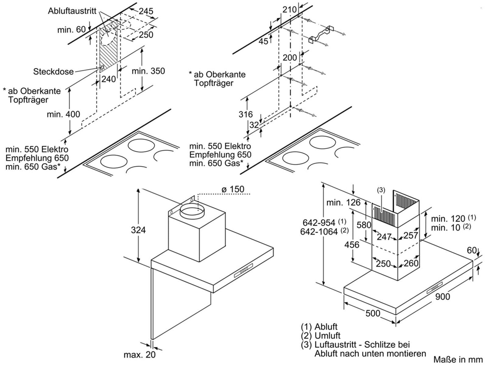 bosch dwb09w452 wand dunstabzugshaube edelstahl abzug metallfettfilter 90 breit ebay. Black Bedroom Furniture Sets. Home Design Ideas