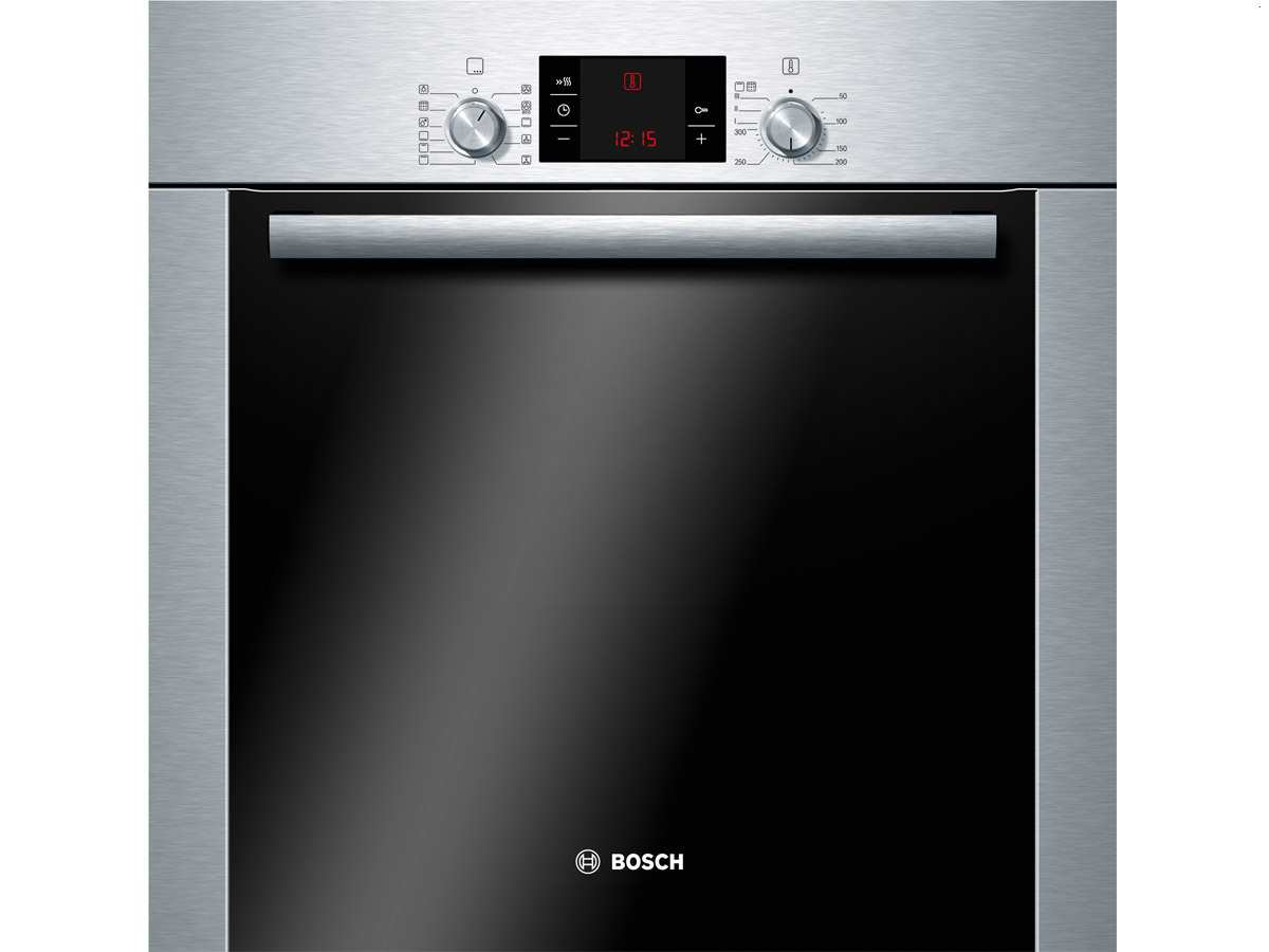 bosch hba73b250 pyrolyse backofen edelstahl heissluft herd grill selbstreinigung ebay. Black Bedroom Furniture Sets. Home Design Ideas