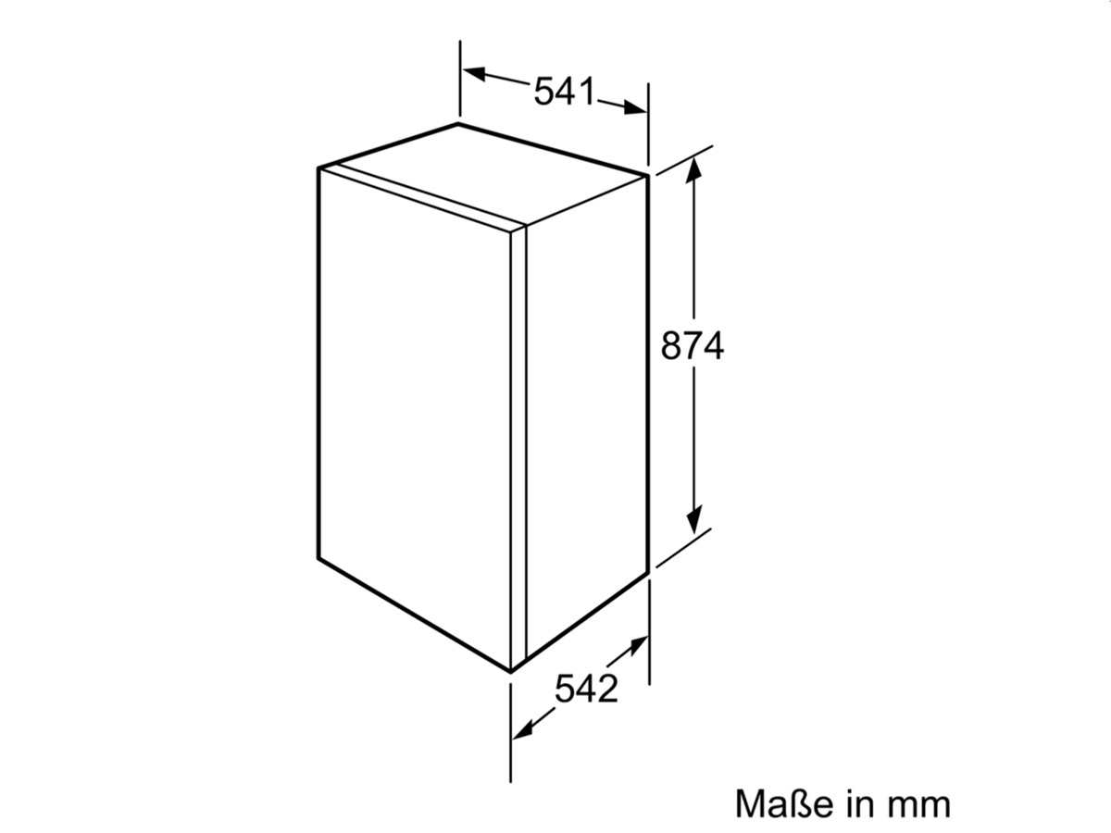 bosch kir18v51 einbau k hlschrank 88 cm k hler k hlger t. Black Bedroom Furniture Sets. Home Design Ideas