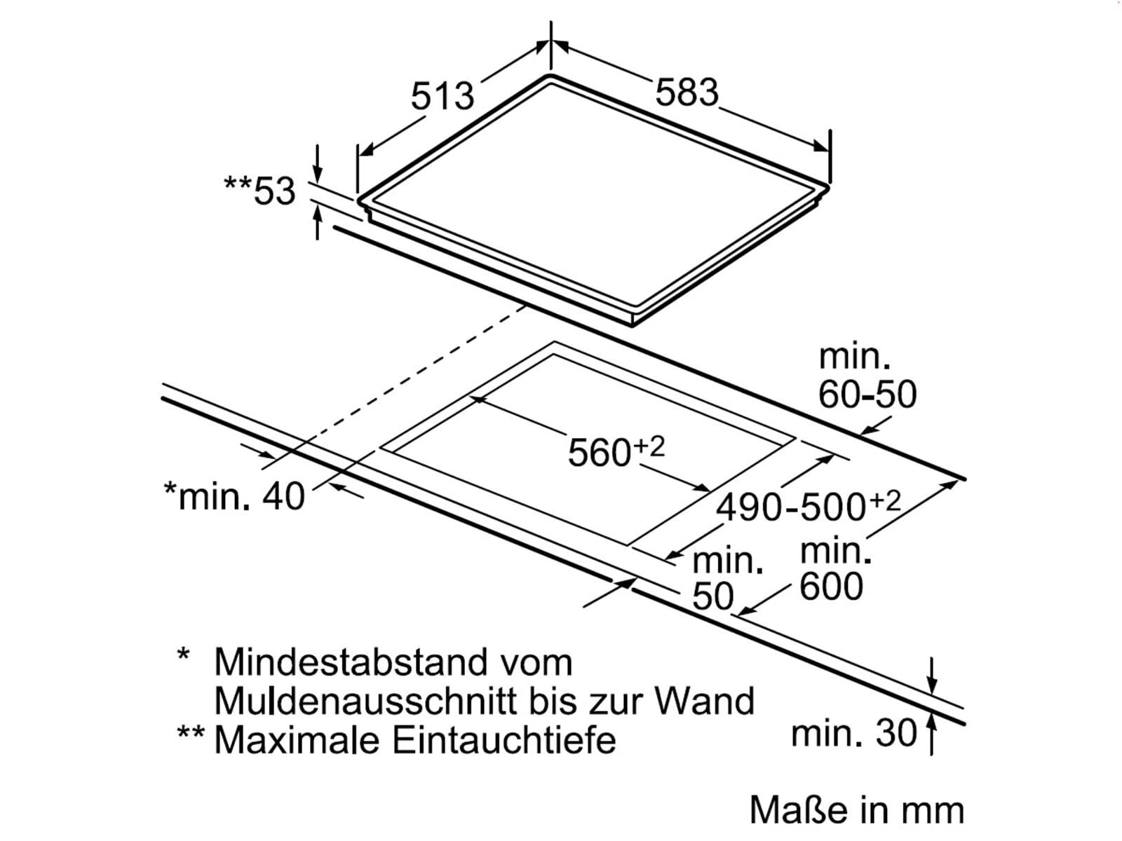 bosch hnd51pr50 set einbauherd hea53t151 induktion glaskeramik kochfeld nib645b17e artikelnummer. Black Bedroom Furniture Sets. Home Design Ideas