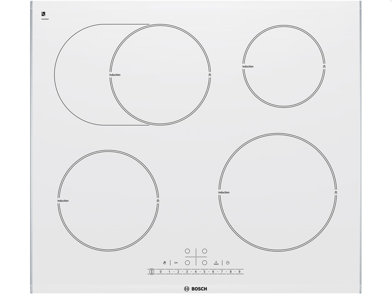 bosch pib672f17e wei induktion kochfeld autark elektro koch zone kochherd ebay. Black Bedroom Furniture Sets. Home Design Ideas