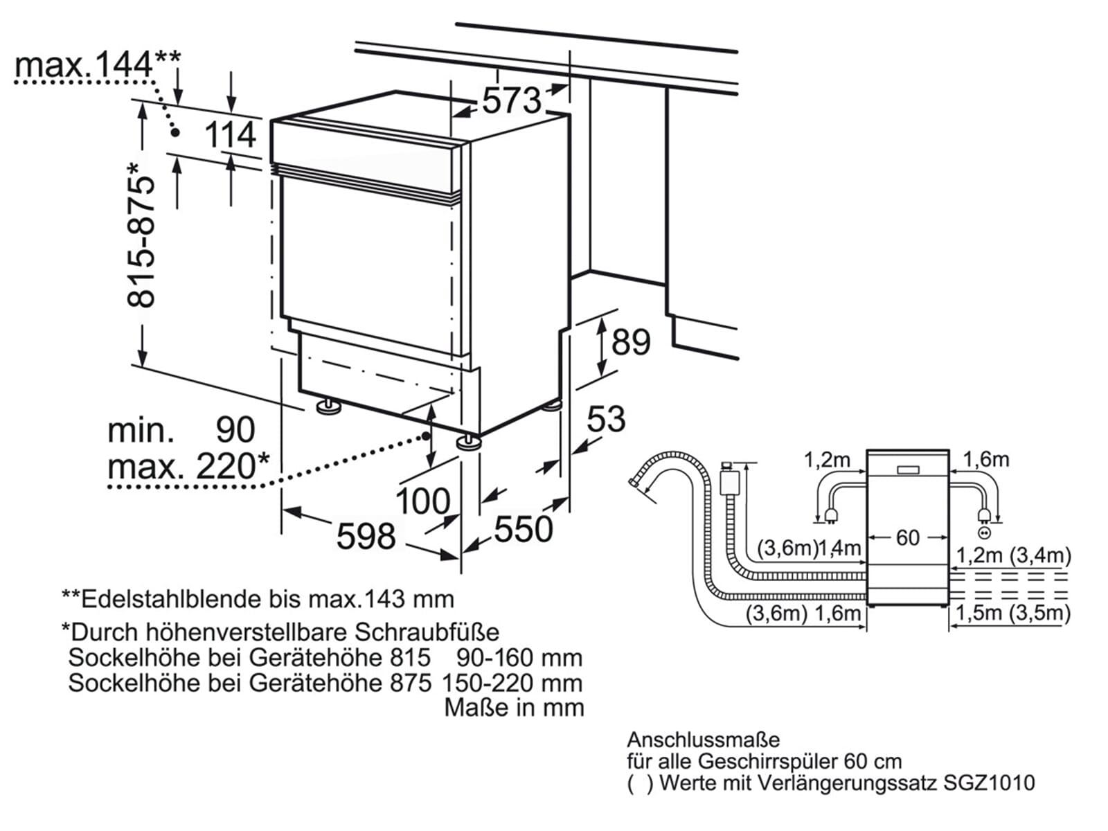 bosch smi48m15eu teilintegrierbarer einbau geschirrsp ler f r 584 90 eur. Black Bedroom Furniture Sets. Home Design Ideas