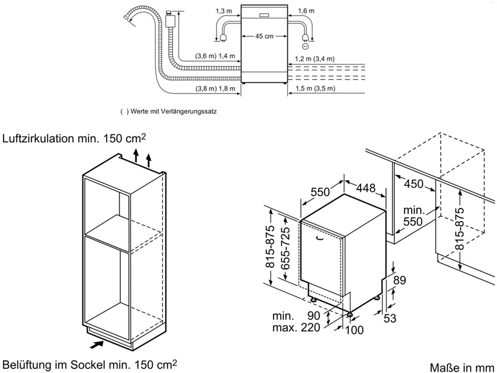 bosch spv50e00eu vollintegrierbarer einbau geschirrsp ler f r 534 90 eur. Black Bedroom Furniture Sets. Home Design Ideas
