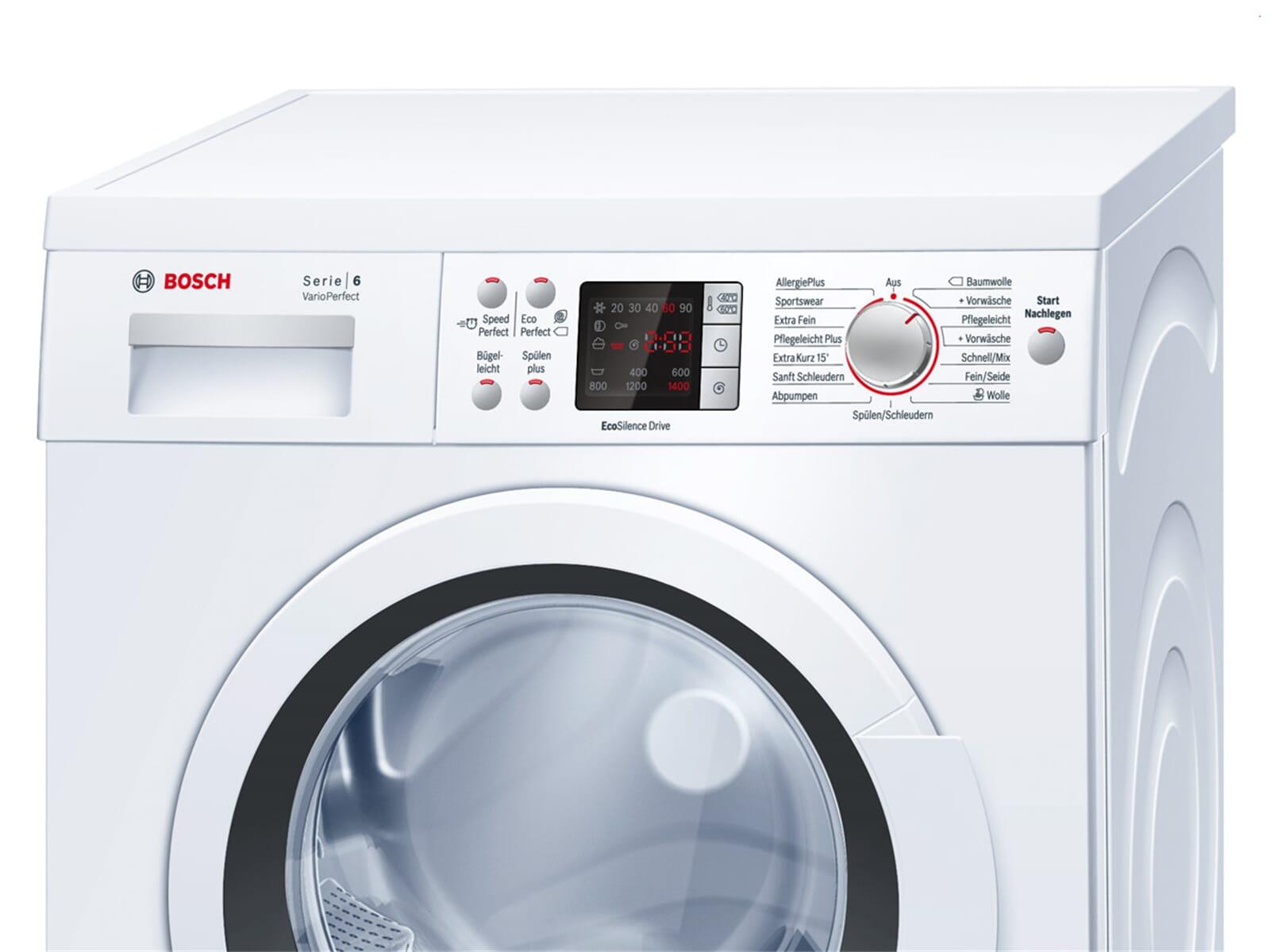 bosch waq28422 stand waschmaschine wei waschvollautomat. Black Bedroom Furniture Sets. Home Design Ideas