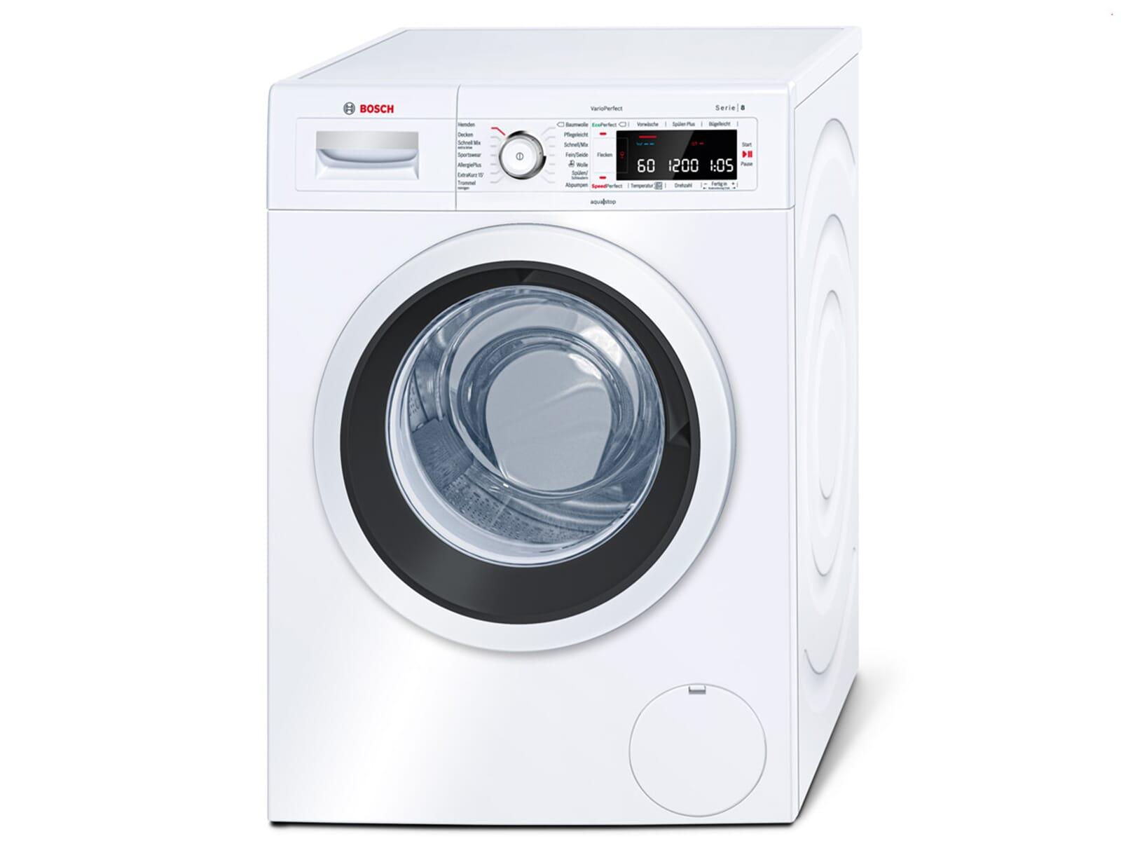 bosch waw28500 stand waschmaschine wei waschvollautomat frontlader 9kg ebay. Black Bedroom Furniture Sets. Home Design Ideas