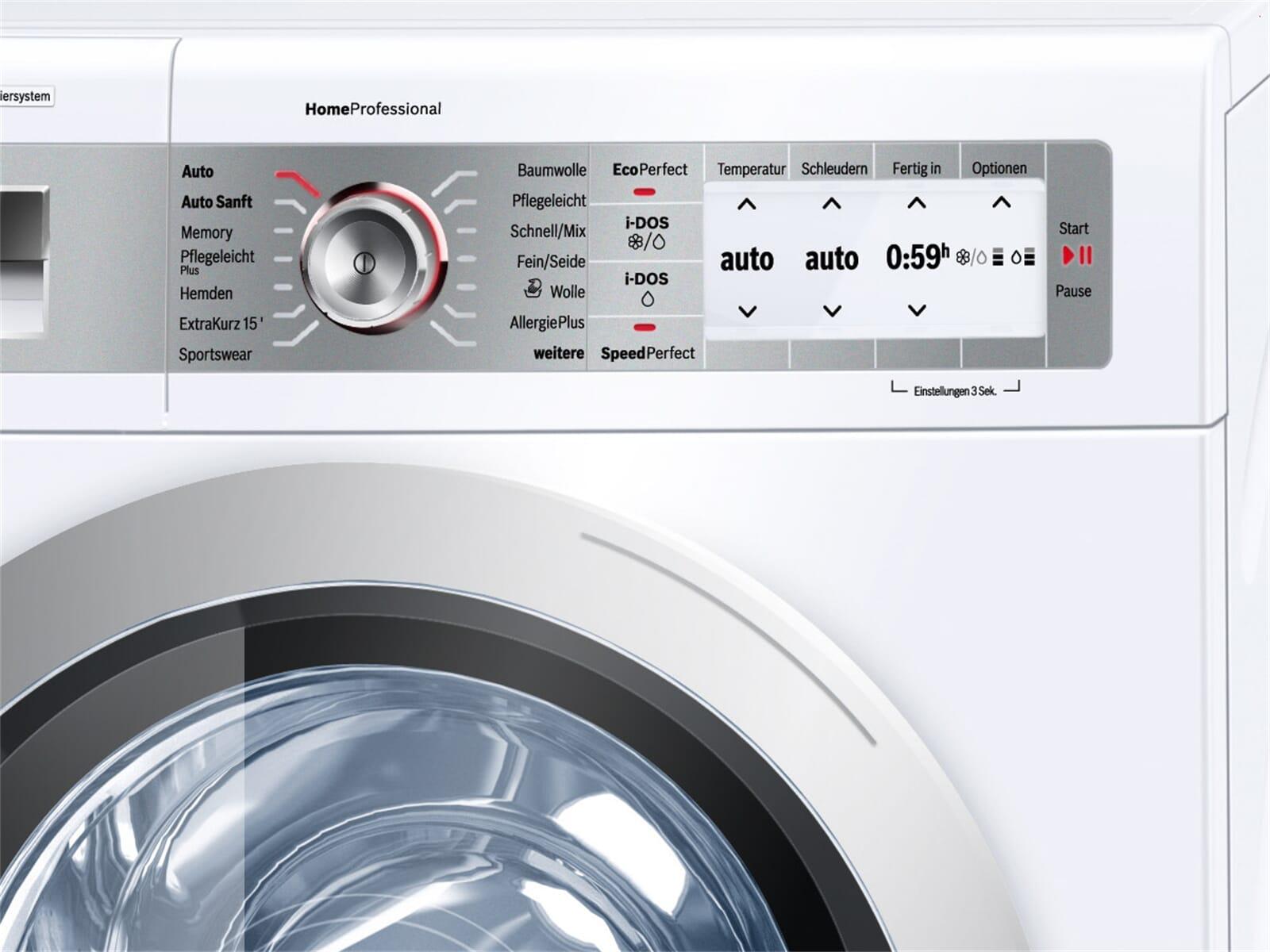 bosch way32842 stand waschmaschine wei frontlader waschvollautomat standger t ebay. Black Bedroom Furniture Sets. Home Design Ideas
