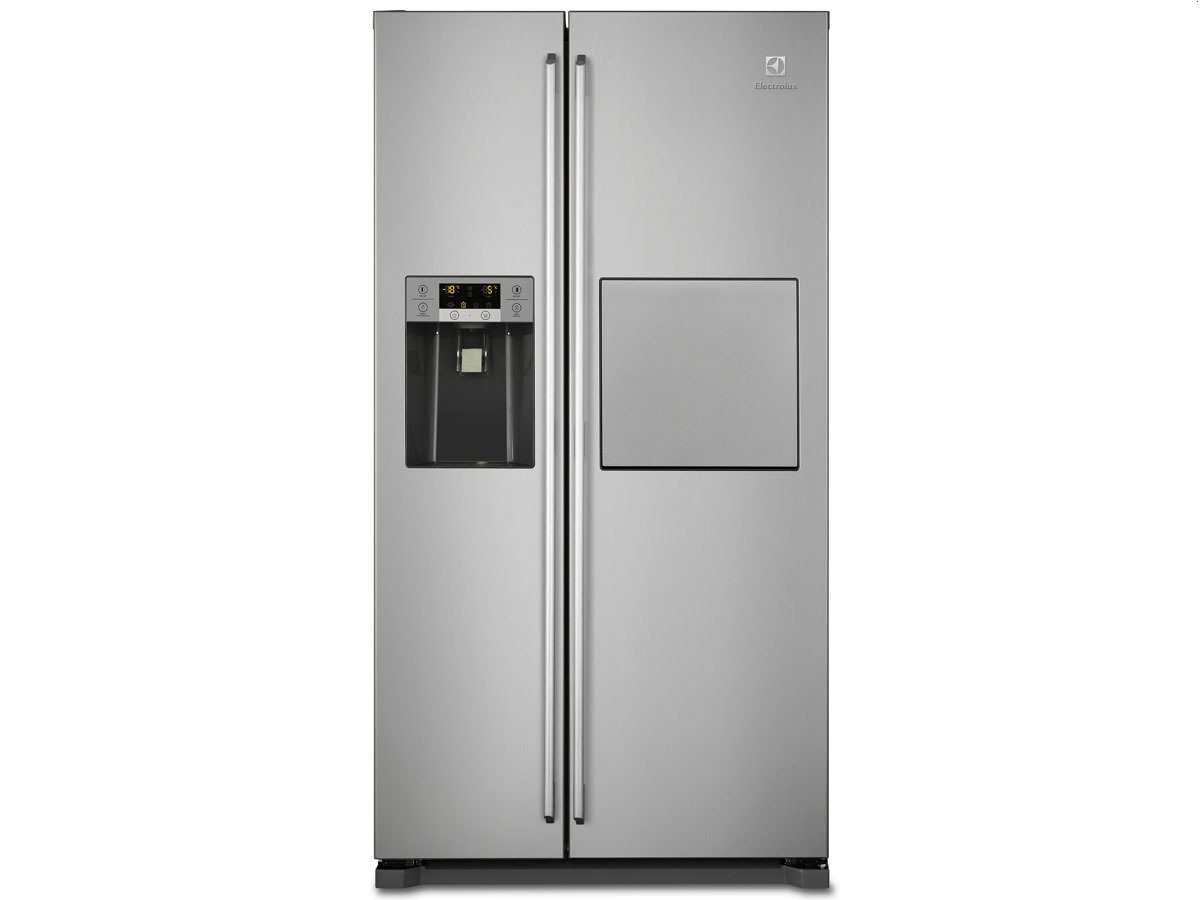aeg electrolux eal6142box side by side k hlkombi edelstahl standger t no frost ebay. Black Bedroom Furniture Sets. Home Design Ideas