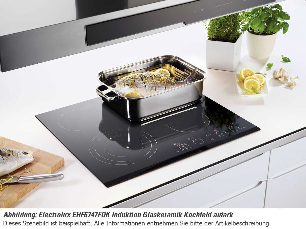 aeg electrolux ehf6747xok glaskeramikkochstelle br terzone auflage kochfeld 60cm ebay. Black Bedroom Furniture Sets. Home Design Ideas