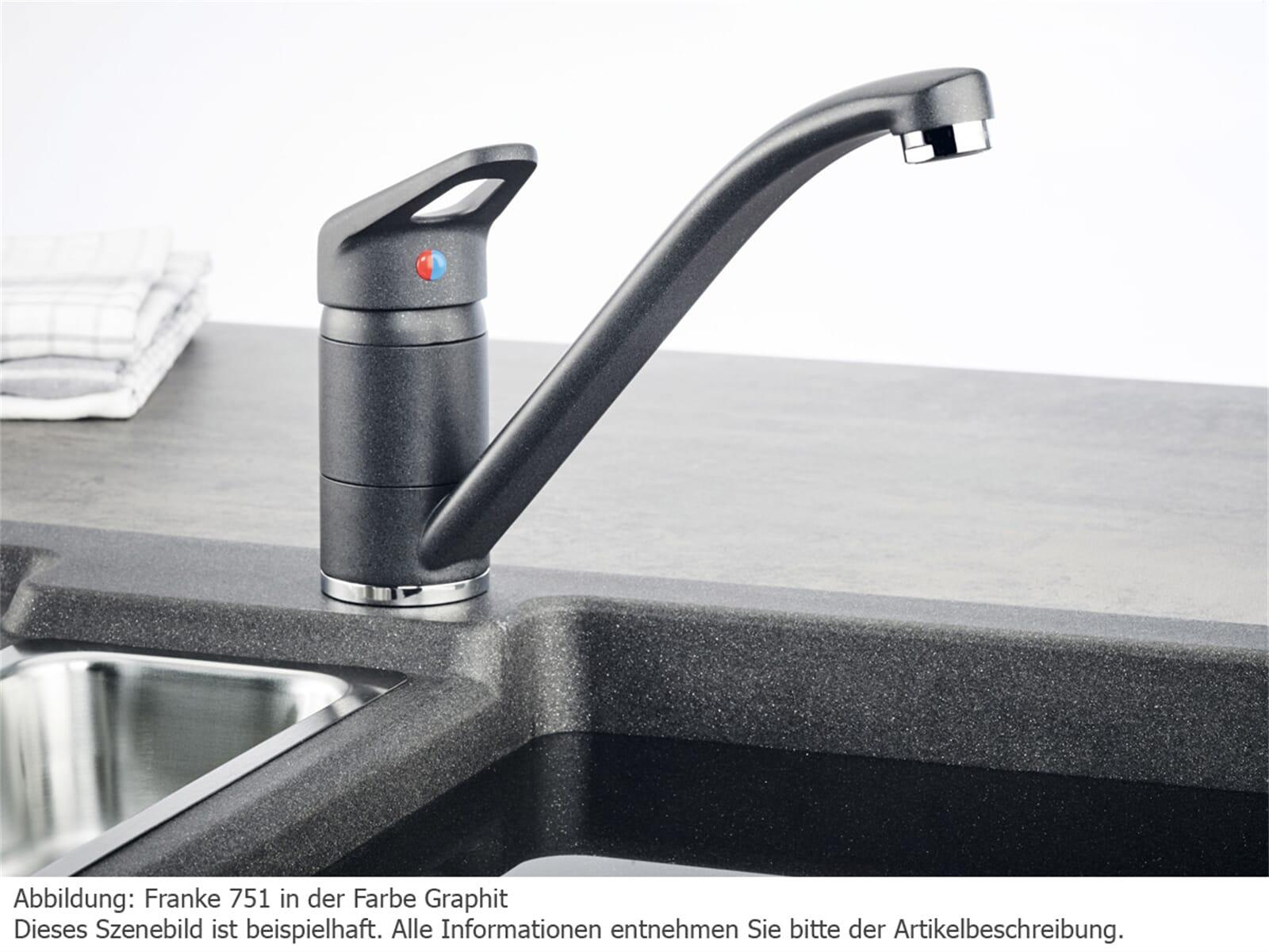 franke 751 onyx niederdruck mischarmatur schwarz granit. Black Bedroom Furniture Sets. Home Design Ideas