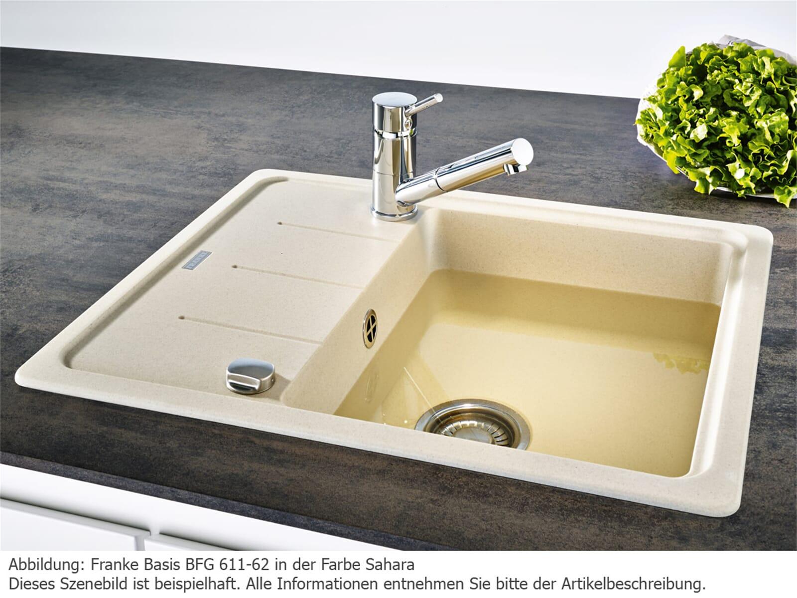 franke basis bfg 611 62 steingrau granit sp lbecken. Black Bedroom Furniture Sets. Home Design Ideas