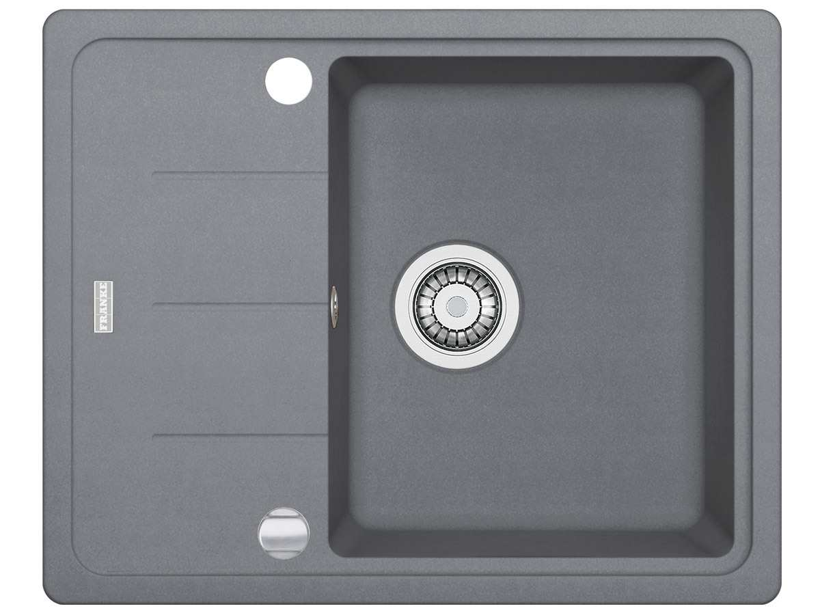 franke basis bfg 611 62 steingrau granit sp lbecken k chensp le einbausp le grau ebay. Black Bedroom Furniture Sets. Home Design Ideas
