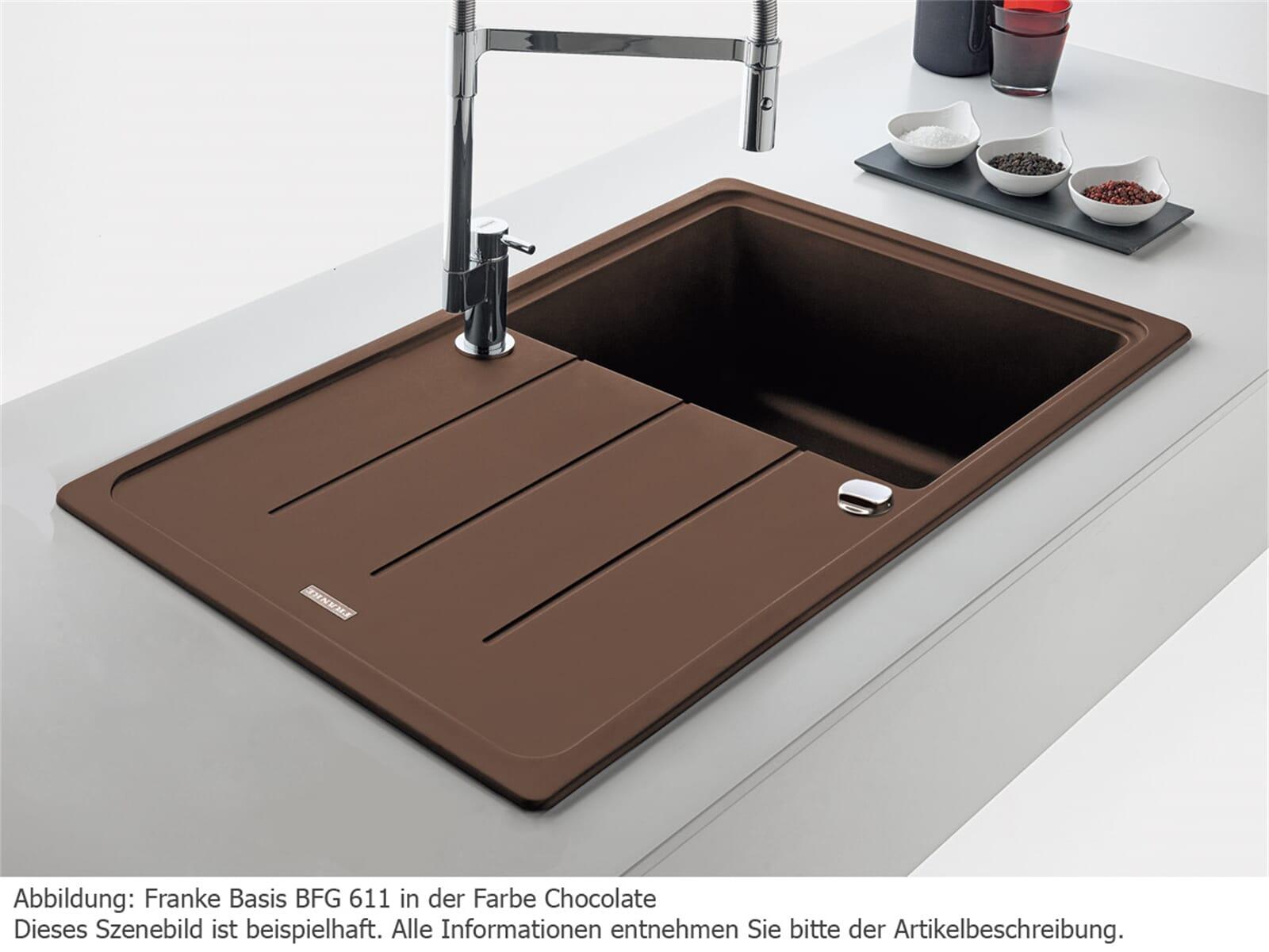 franke basis bfg 611 magnolia granit sp le f r 174 90 eur. Black Bedroom Furniture Sets. Home Design Ideas